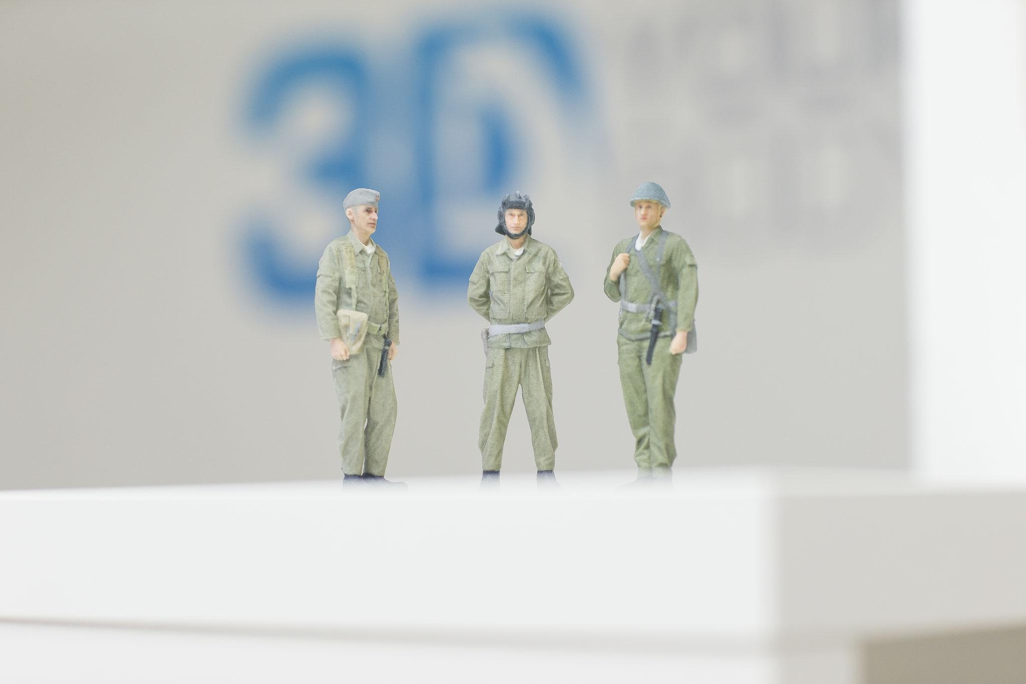 3D-Miniaturen aus Berlin, München, Köln, Rostock und Dresden
