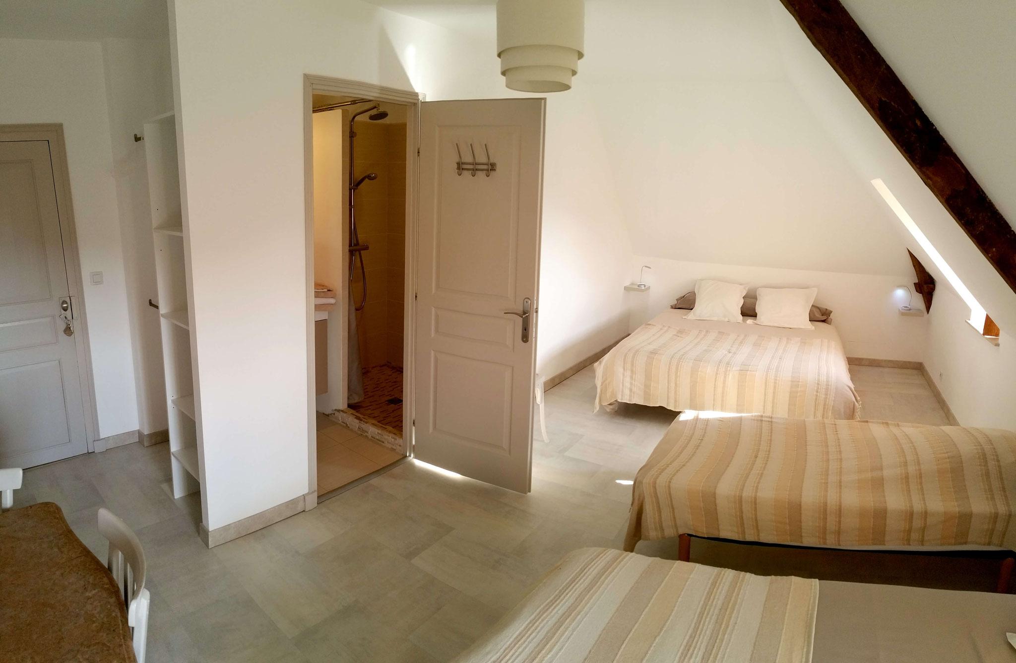La chambre Causse : 4 pers, gîte pour 10 personnes dans la vallée de la Dordogne