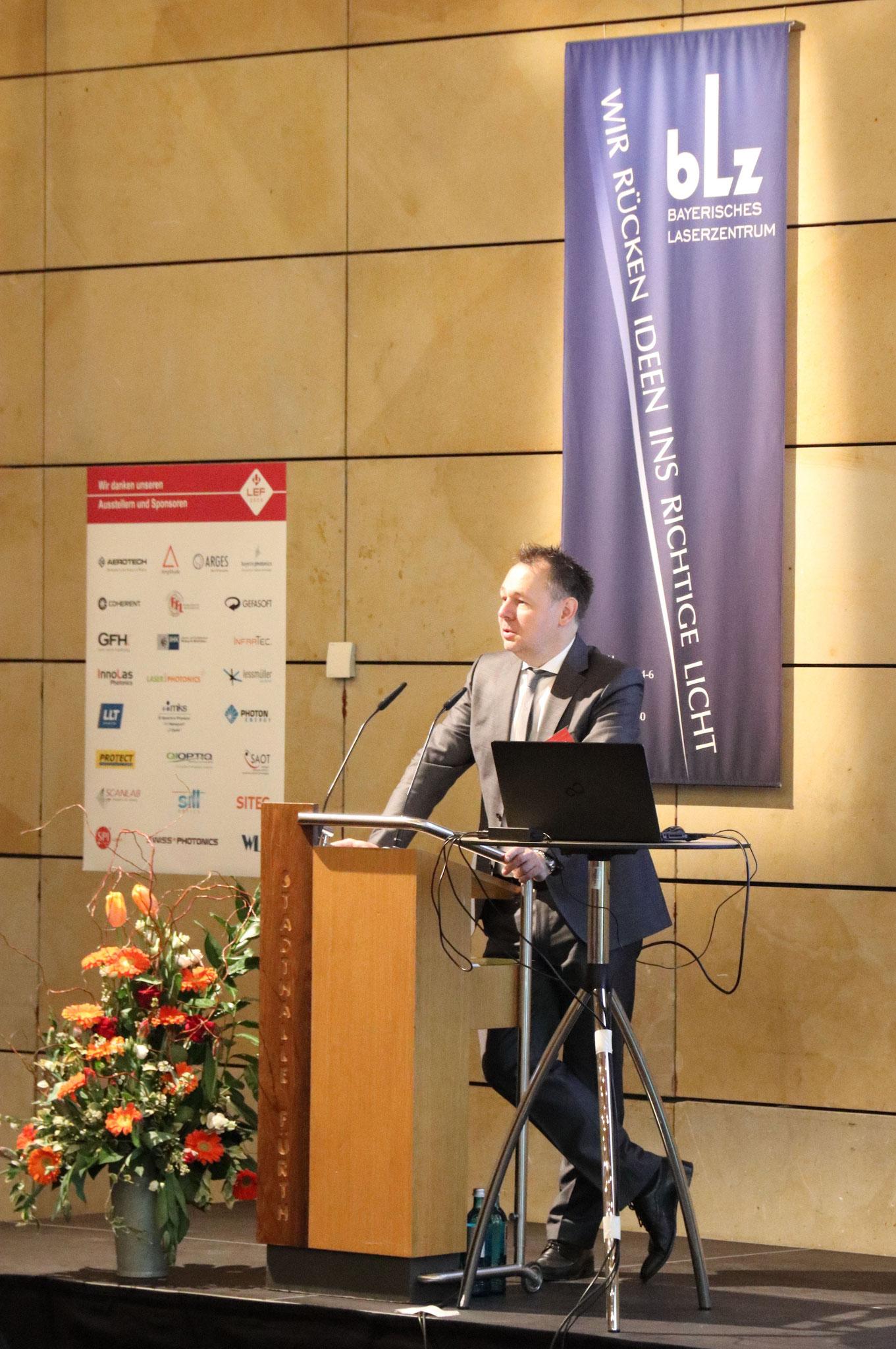 Eröffnung der LEF 2020 durch den Gastgeber Prof. Michael Schmidt