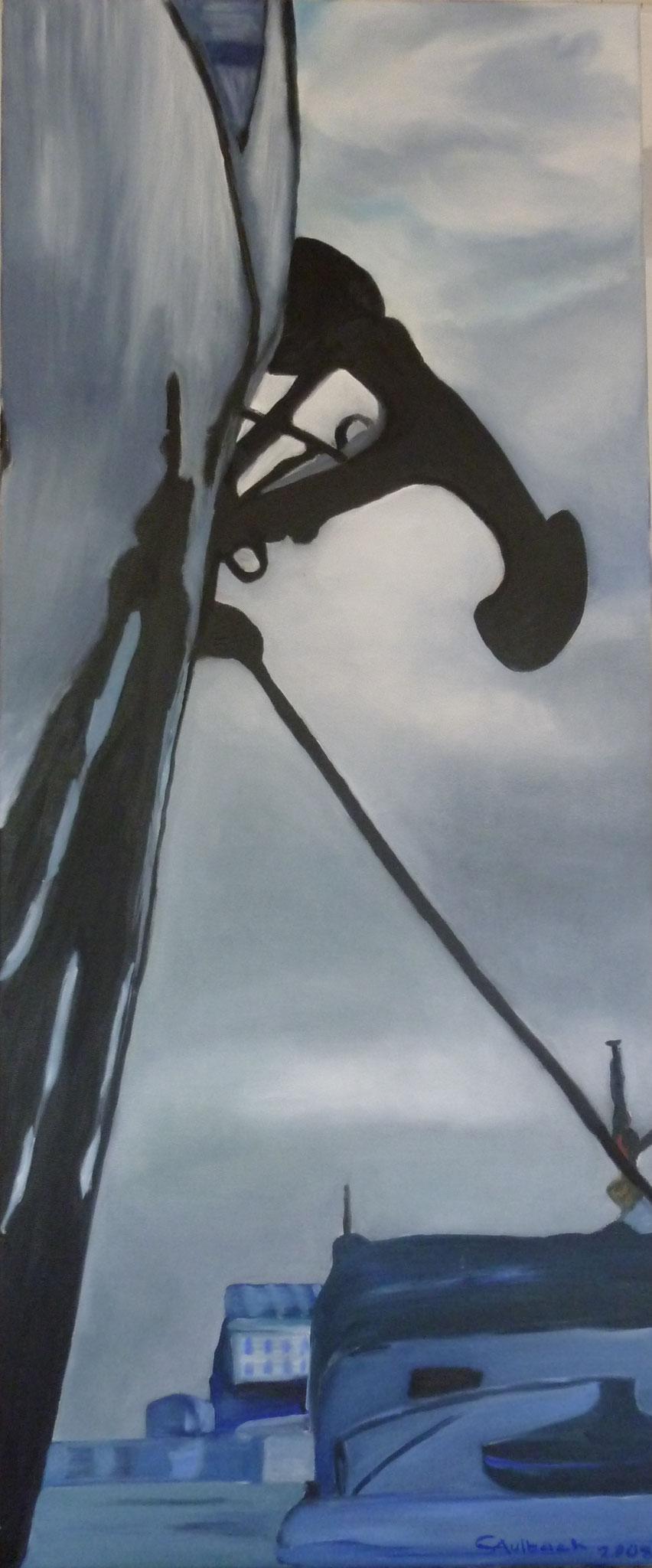 Sicherheit, 2008, 50 x 120cm, Öl auf Leinwand