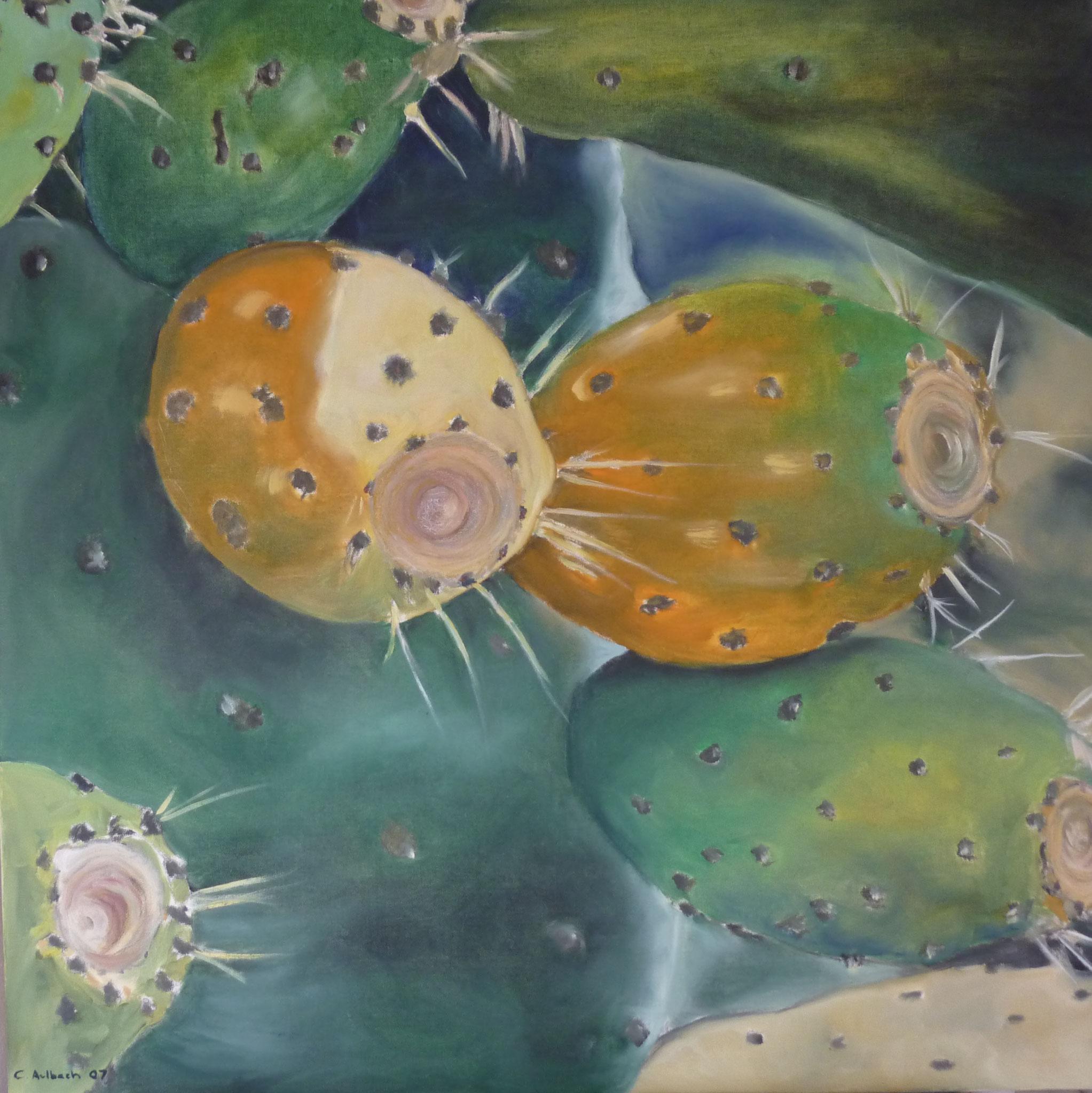 WWW green I, 2007, 80 x 80cm, Öl auf Leinwand