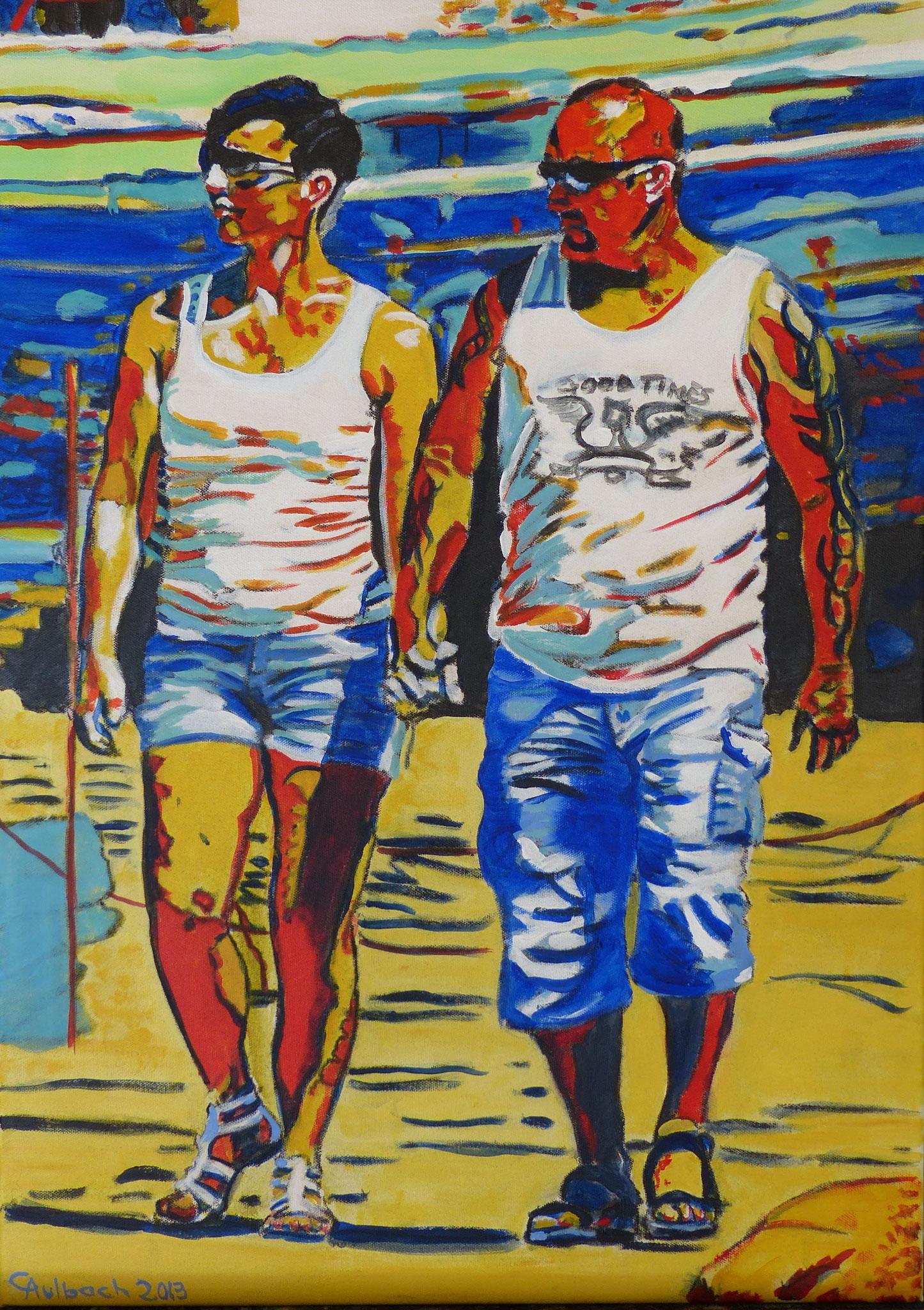 Ugly tourists IV, 2013, 80 x 60cm, Öl auf Leinwand