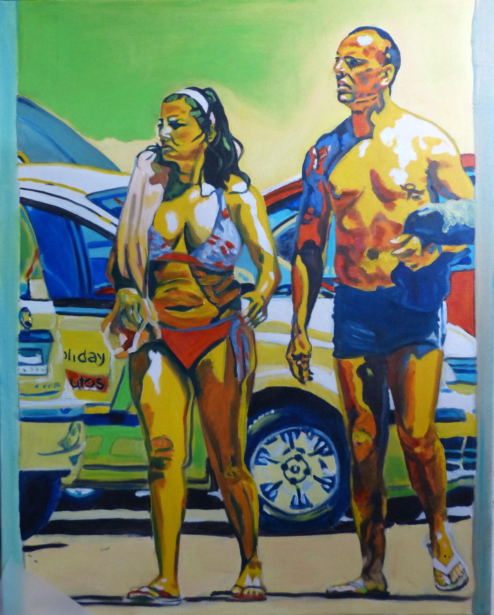Ugly tourists I, 2013, 100 x 80cm, Öl auf Leinwand