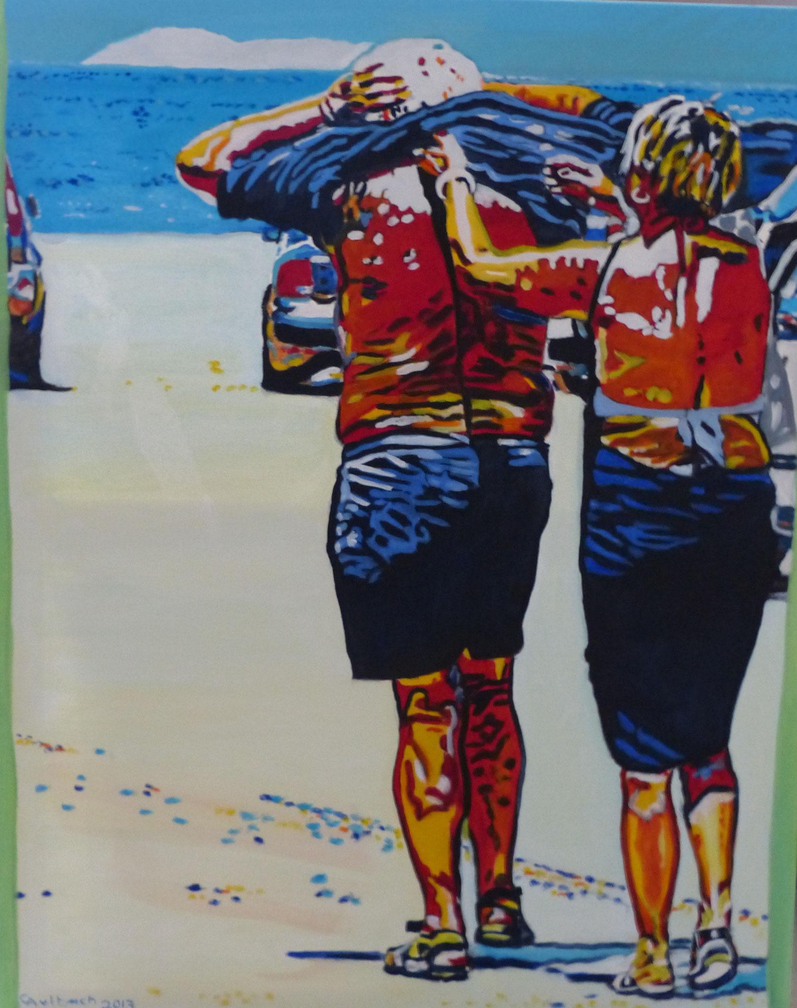 Ugly tourists III, 2013, 100 x 80cm, Öl auf Leinwand