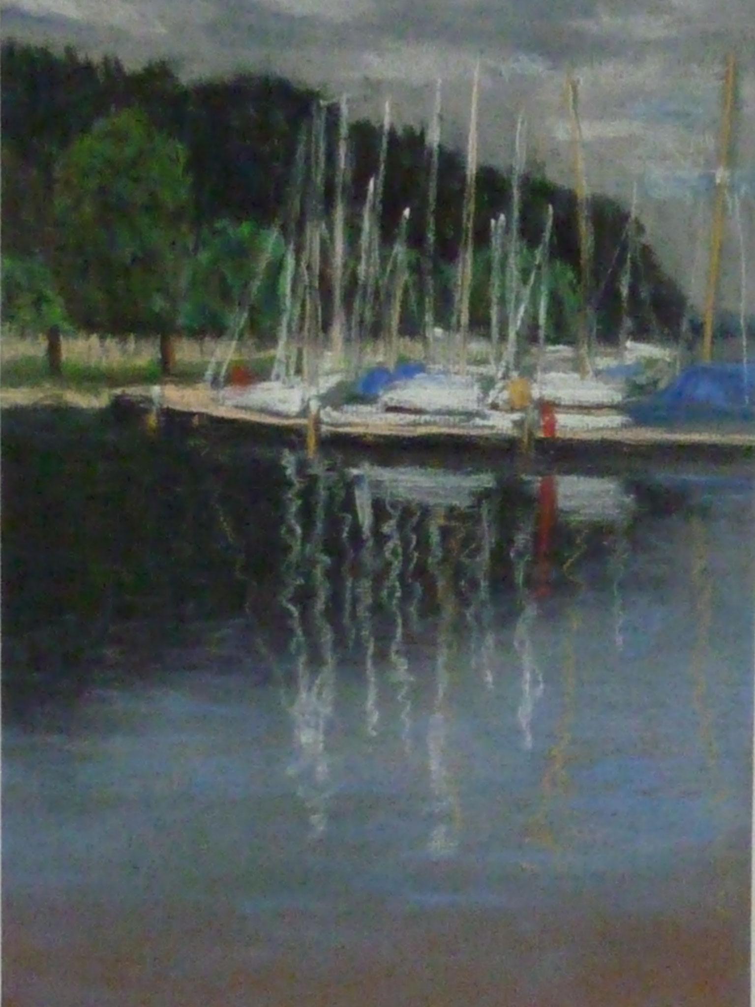 Quellental, 2008, 30 x 21cm, Pastell auf Ingres-Papier