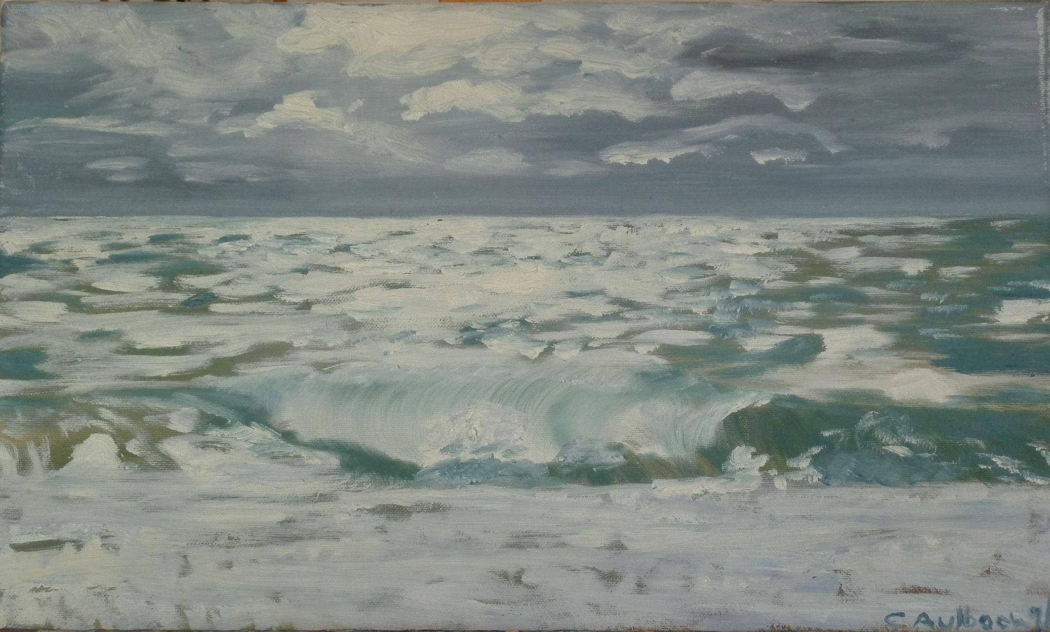 Nordsee, 2002, 30 x 50cm, Öl auf Leinwand