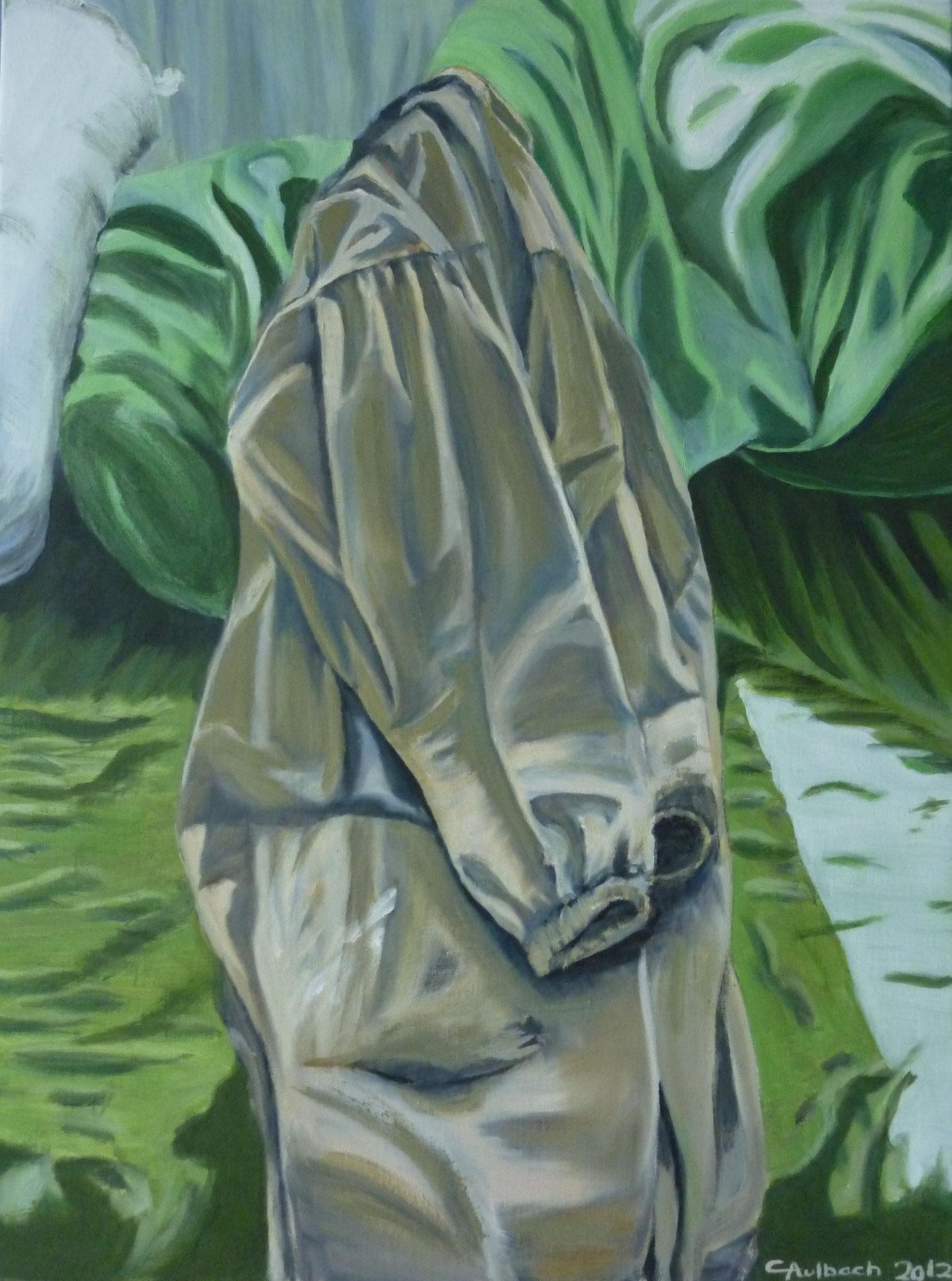 artist's rest, 2012, 100 x 70cm, Öl auf Leinwand