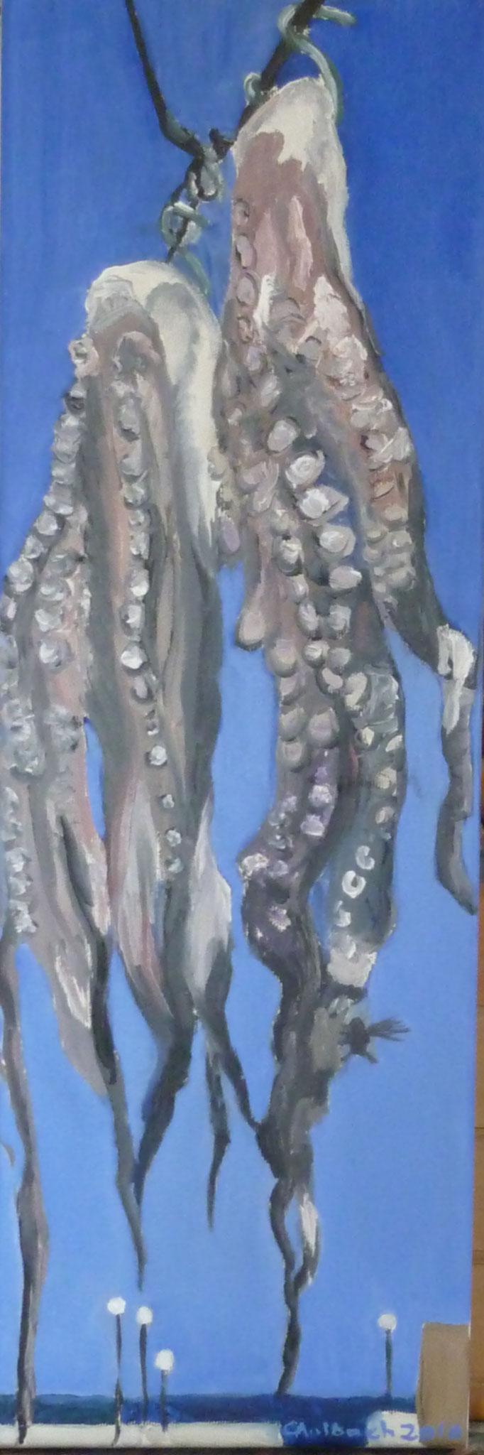 Octopus, 2010, 60 x 20cm, Öl auf Leinwand