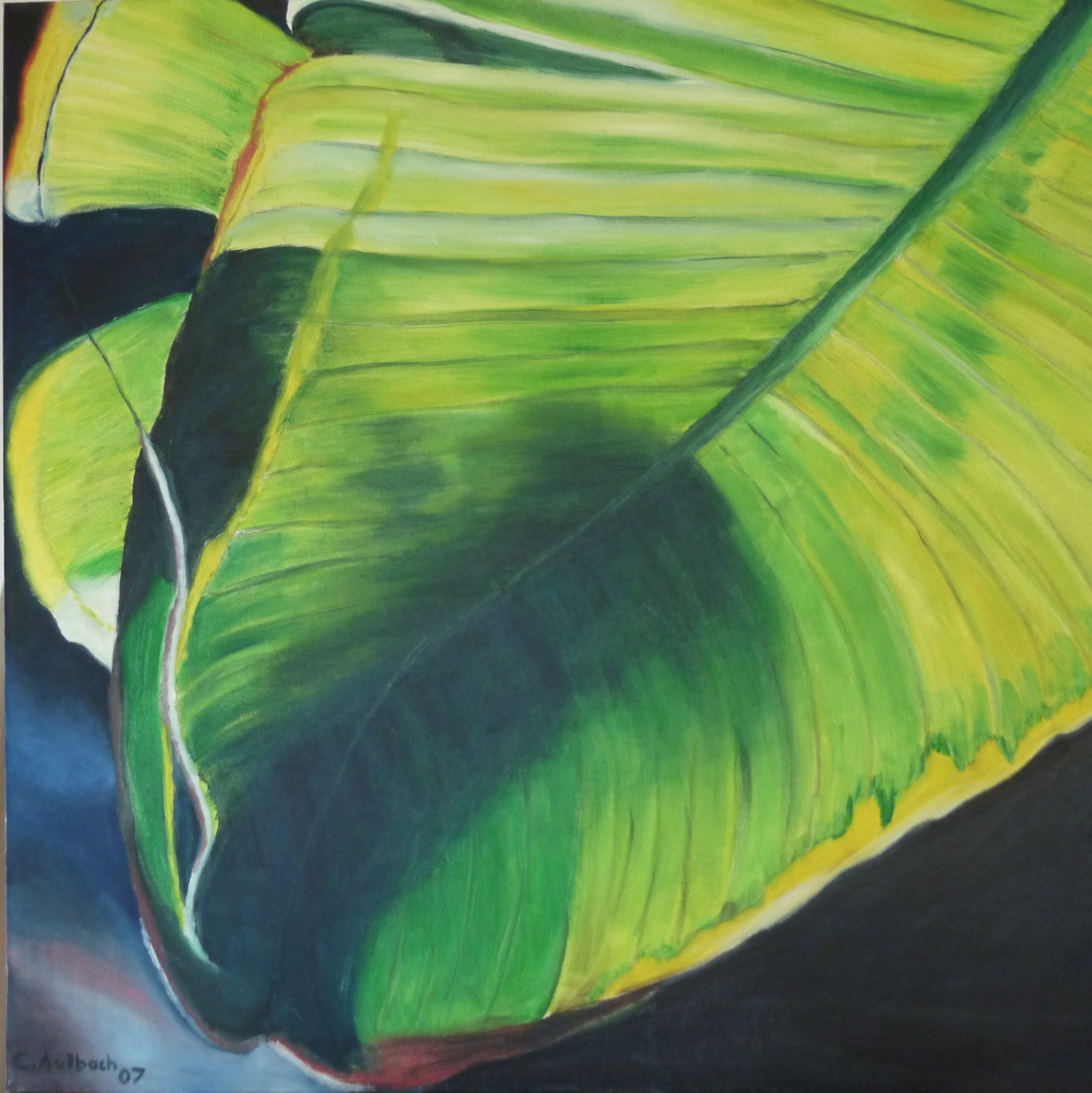 WWW (What a wonderful world) green II, 2007, 80 x 80cm, Öl auf Leinwand