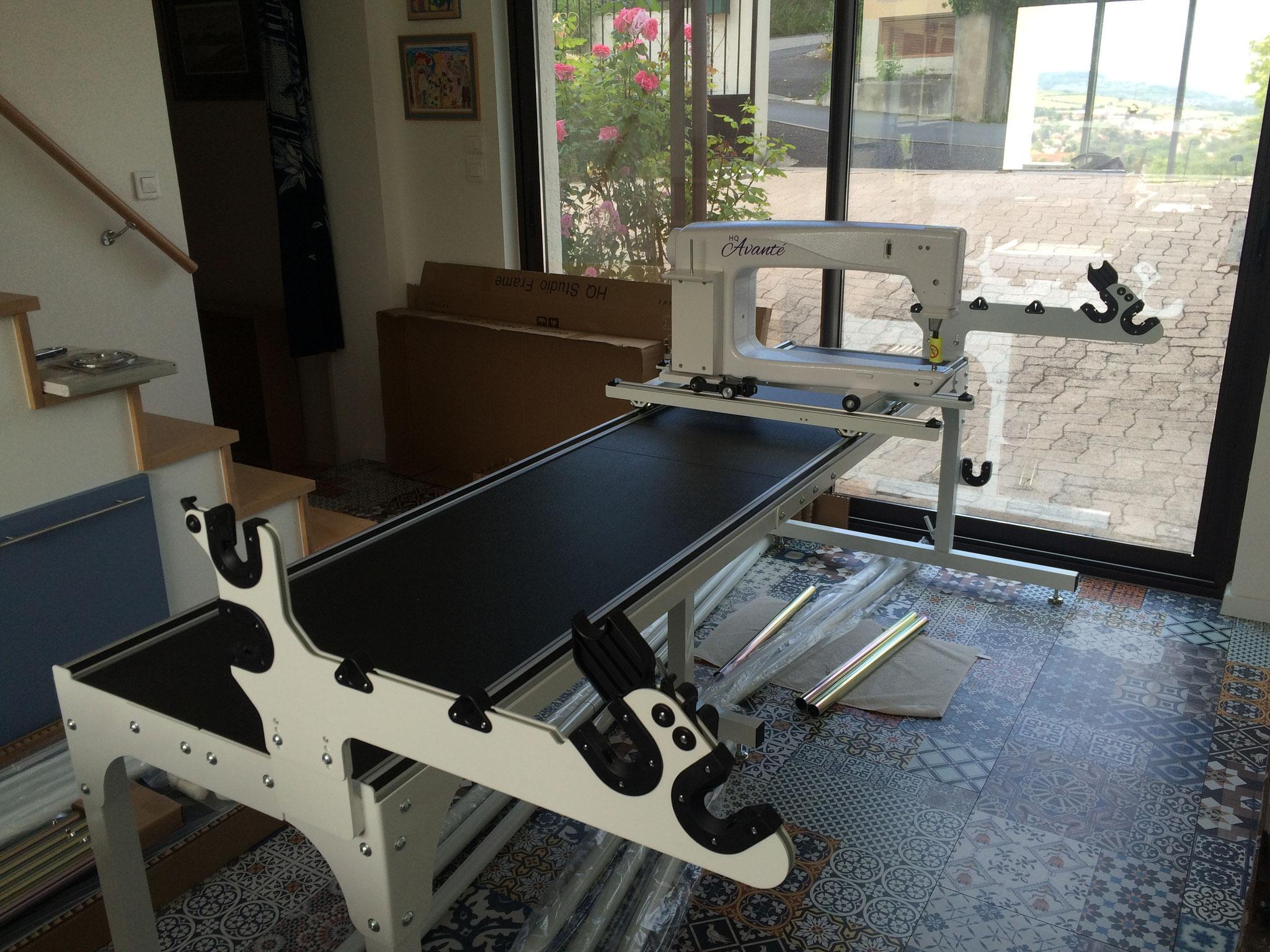 La machine Long Arm Avanté de l'atelier LE QUILT émoi prend forme !
