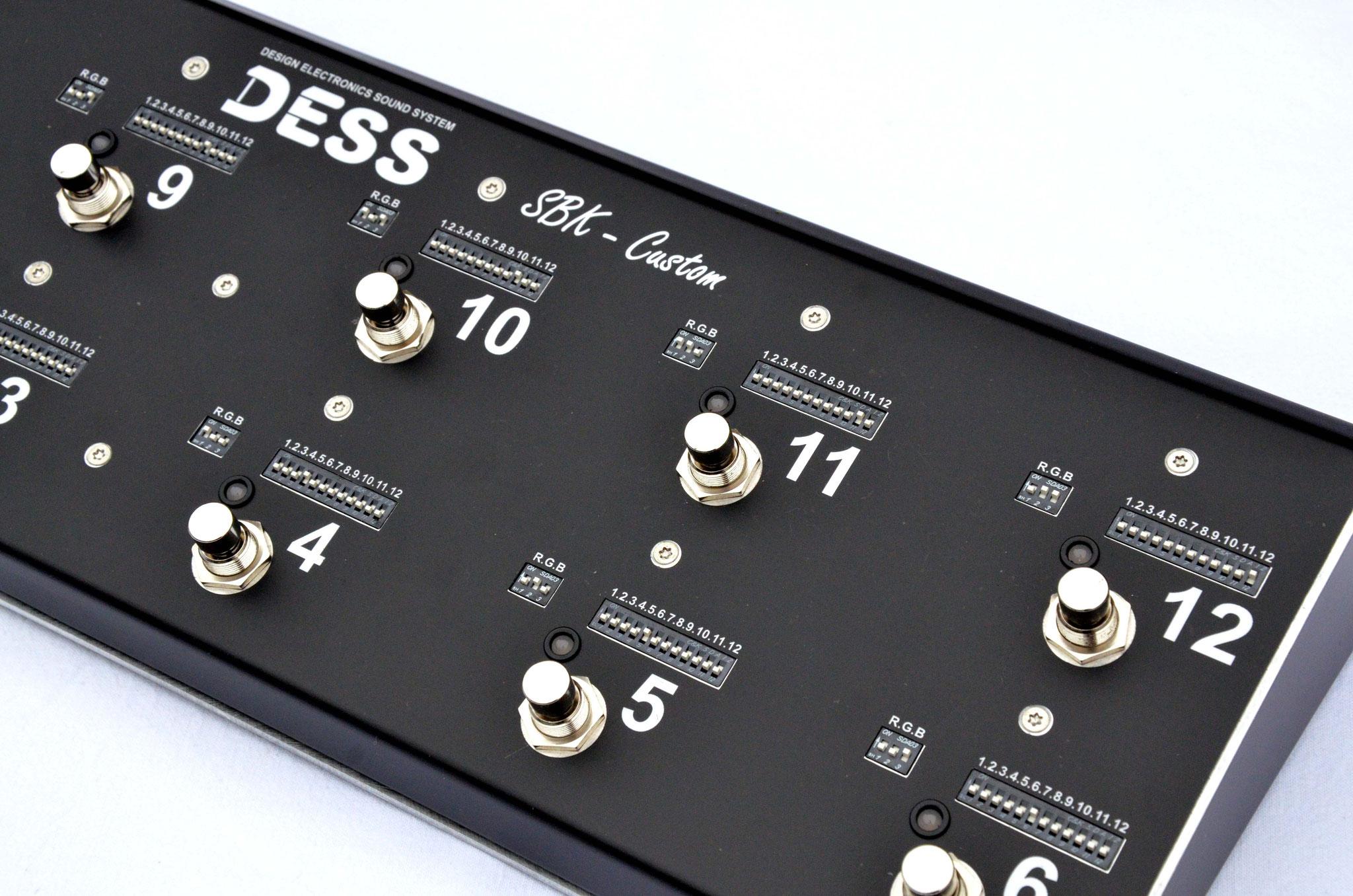 DESS, custom shop, custom switch, switcher, analogique, buffer, tuner, SBK Custom