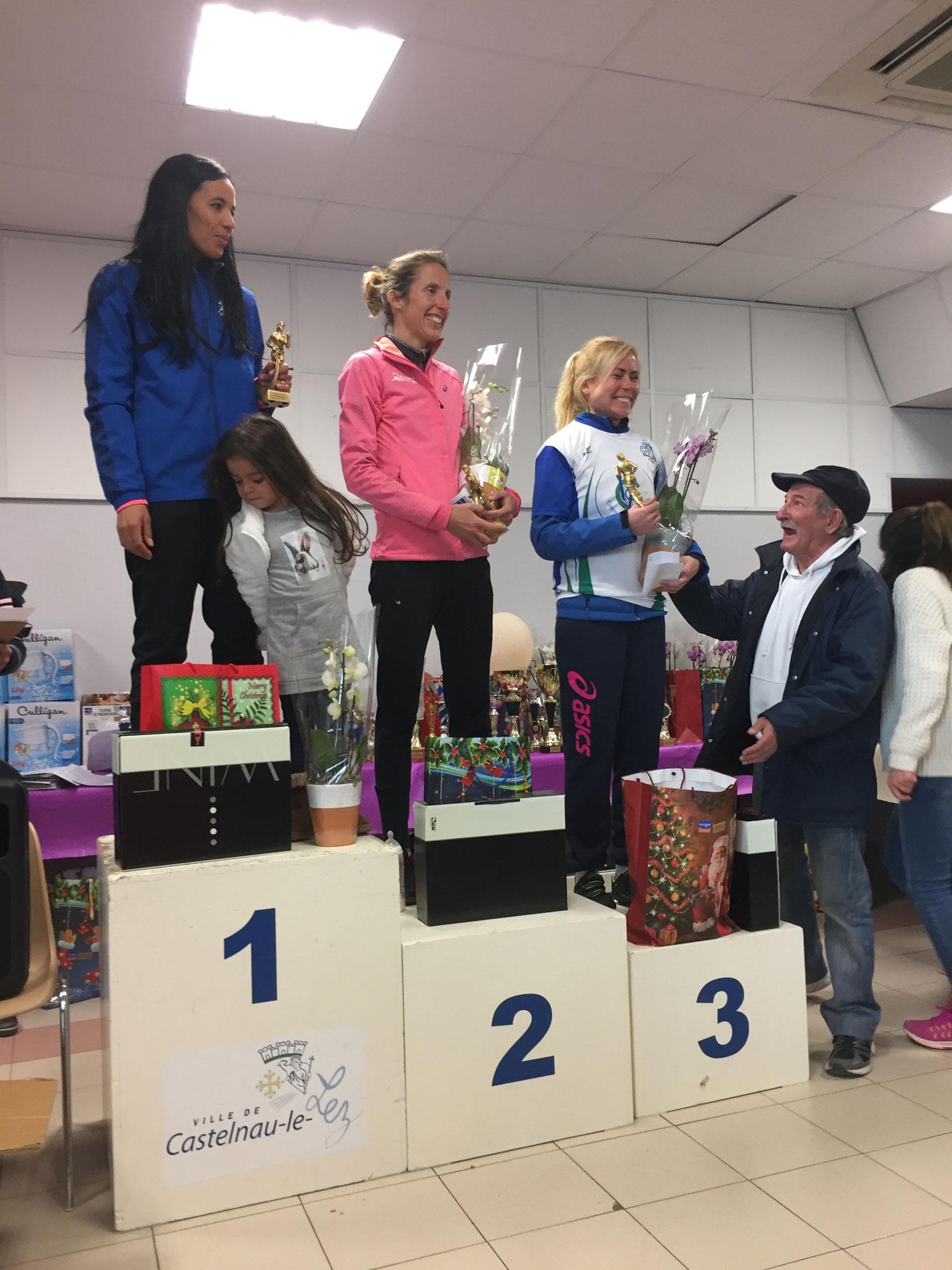 Podium féminine 12 km
