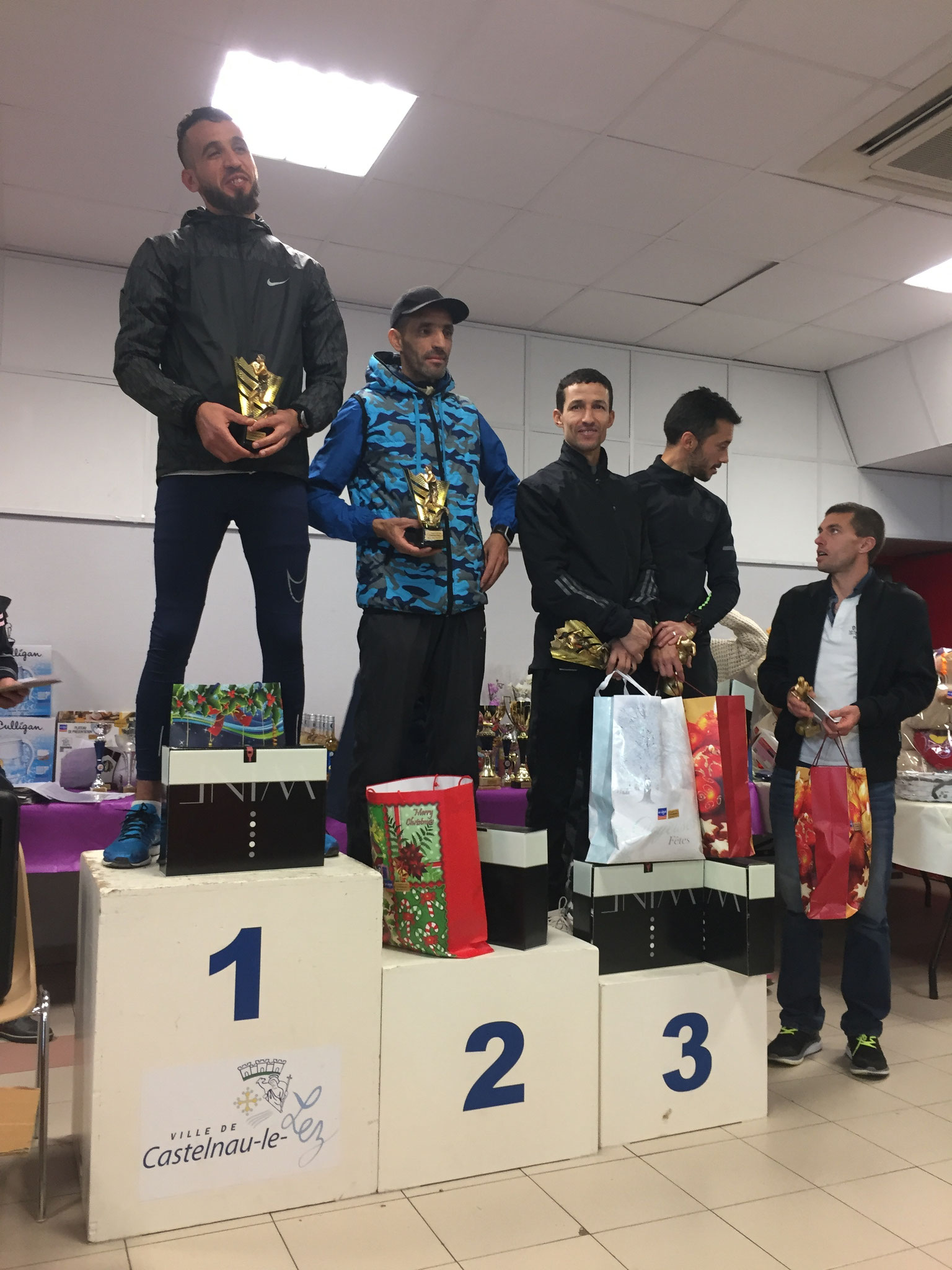 Podium masculin 12 km