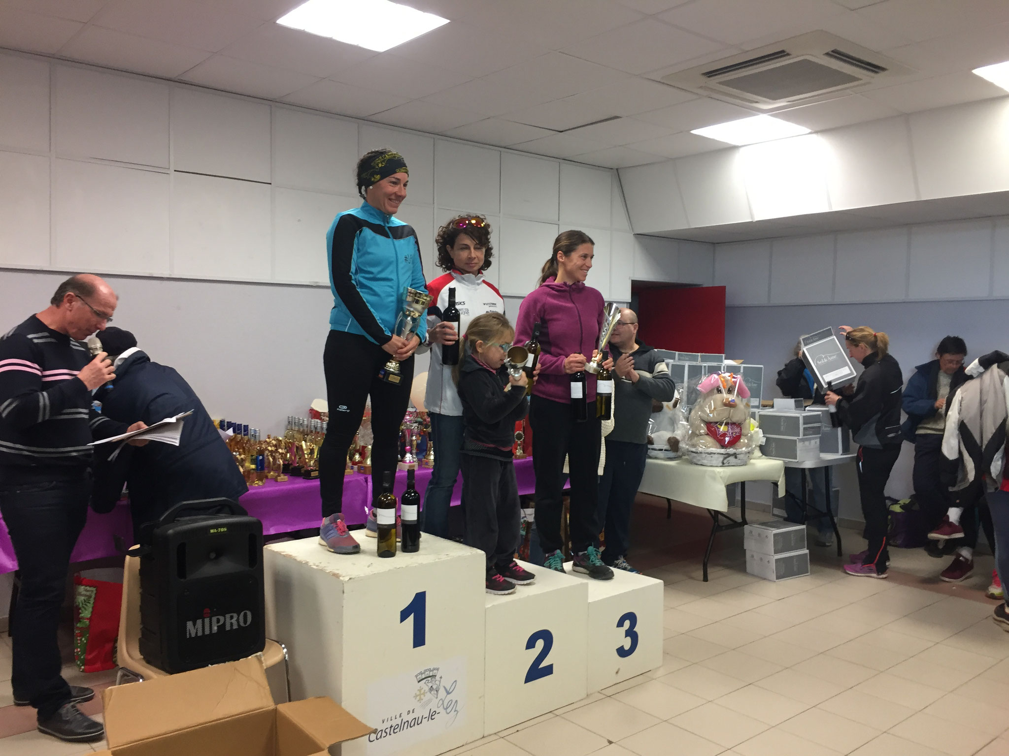 Podium féminine 5 km