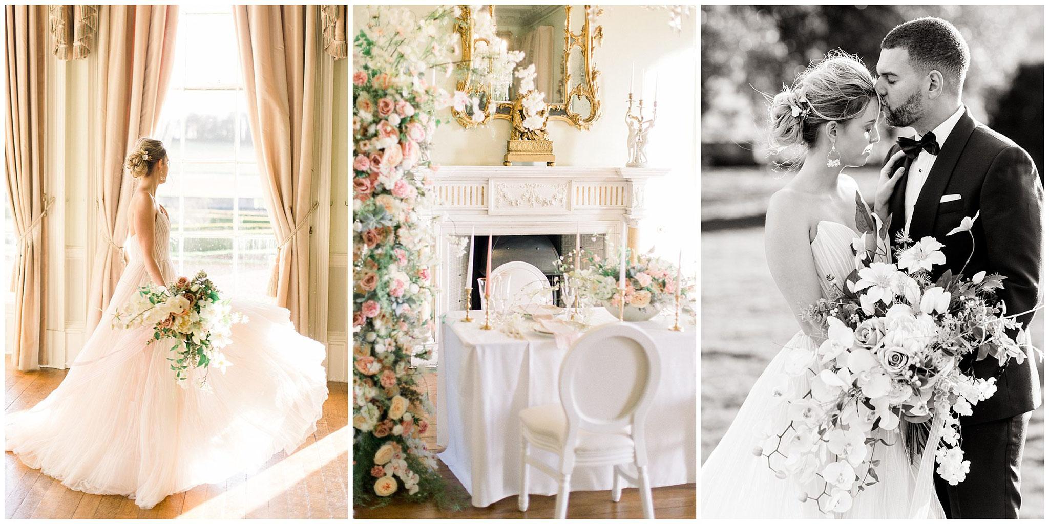 fine art wedding photographer Jane weber England uk prestwold hall table setting flower