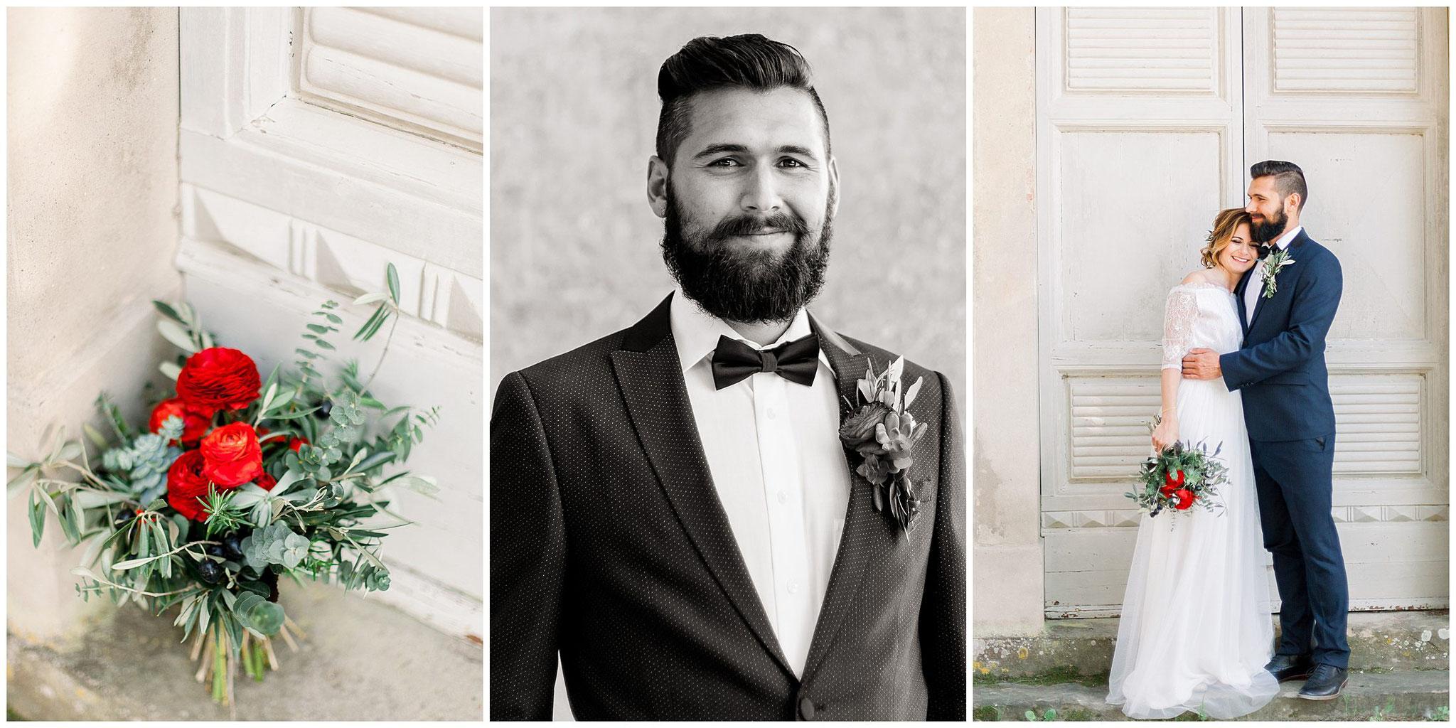 Boho glam Italienhochzeit hochzeitsfotograf Jane weber Toskana Bräutigam mit Bart hipster Groom