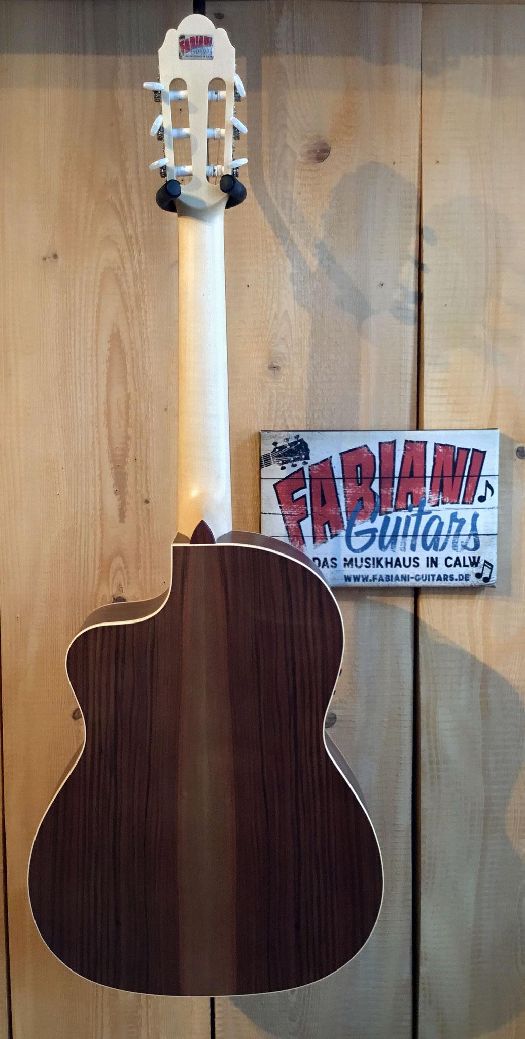 Pro Natura Silver Series Samba Walnuss/Walnut, E-Konzertgitarre,  Electric- Classicguitar. Tonabnehmer, Tuner, Musik Fabiani Guitars 75365 Calw