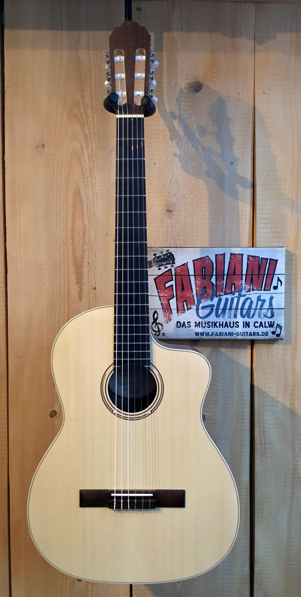 Pro Natura Silver Series Samba Walnuss/Walnut, elektrische Konzertgitarre, Tonabnehmer, Tuner, Musik Fabiani Guitars 75365 Calw