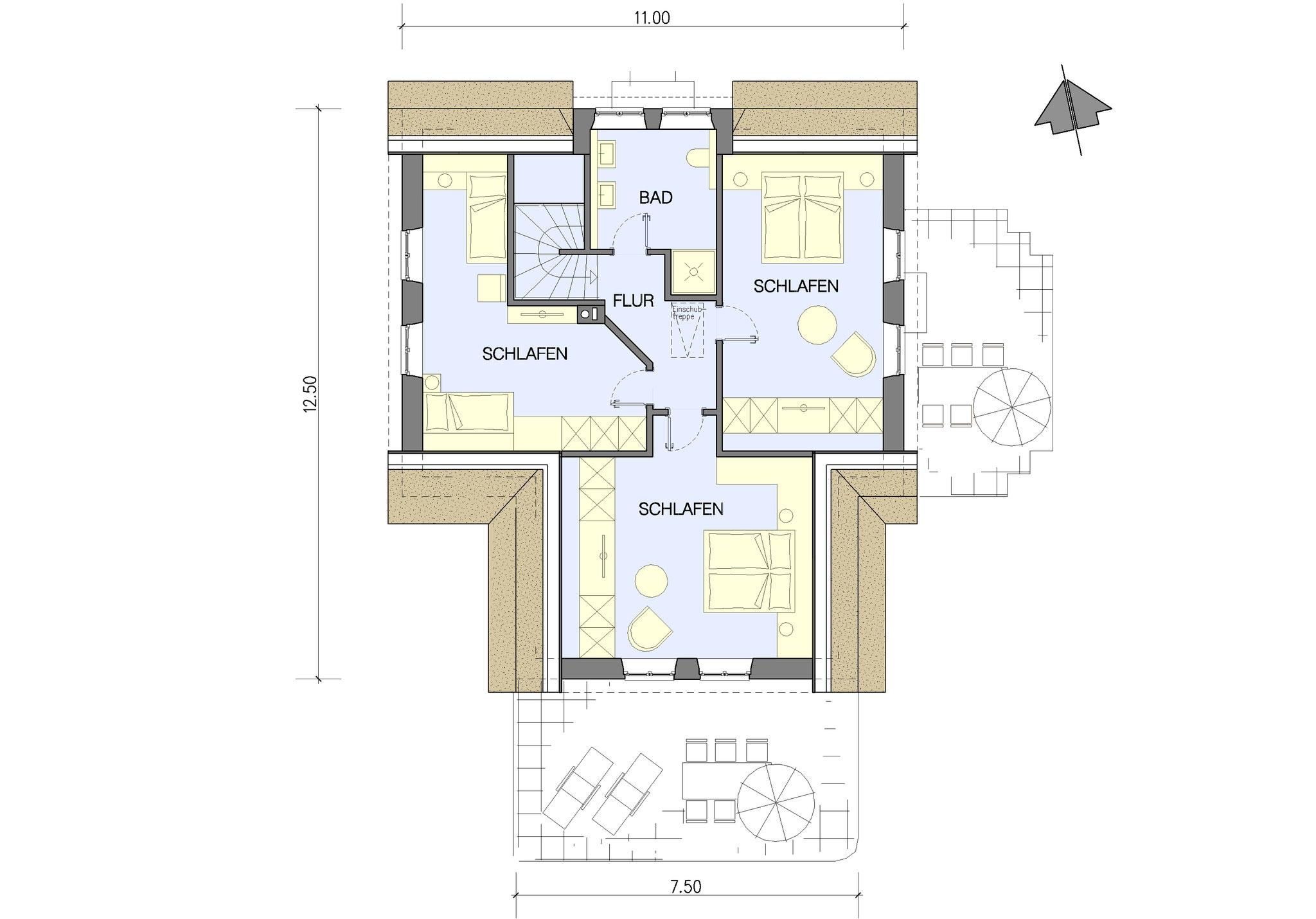 Beispiel Grundriss Dachgeschoss