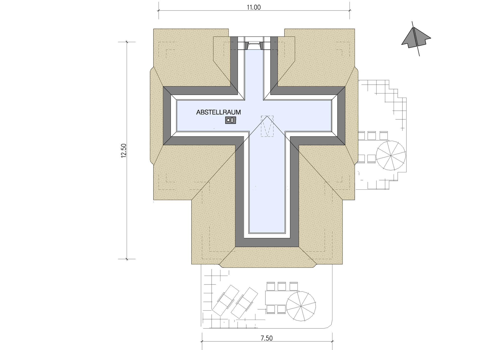 Beispiel Grundriss Spitzboden