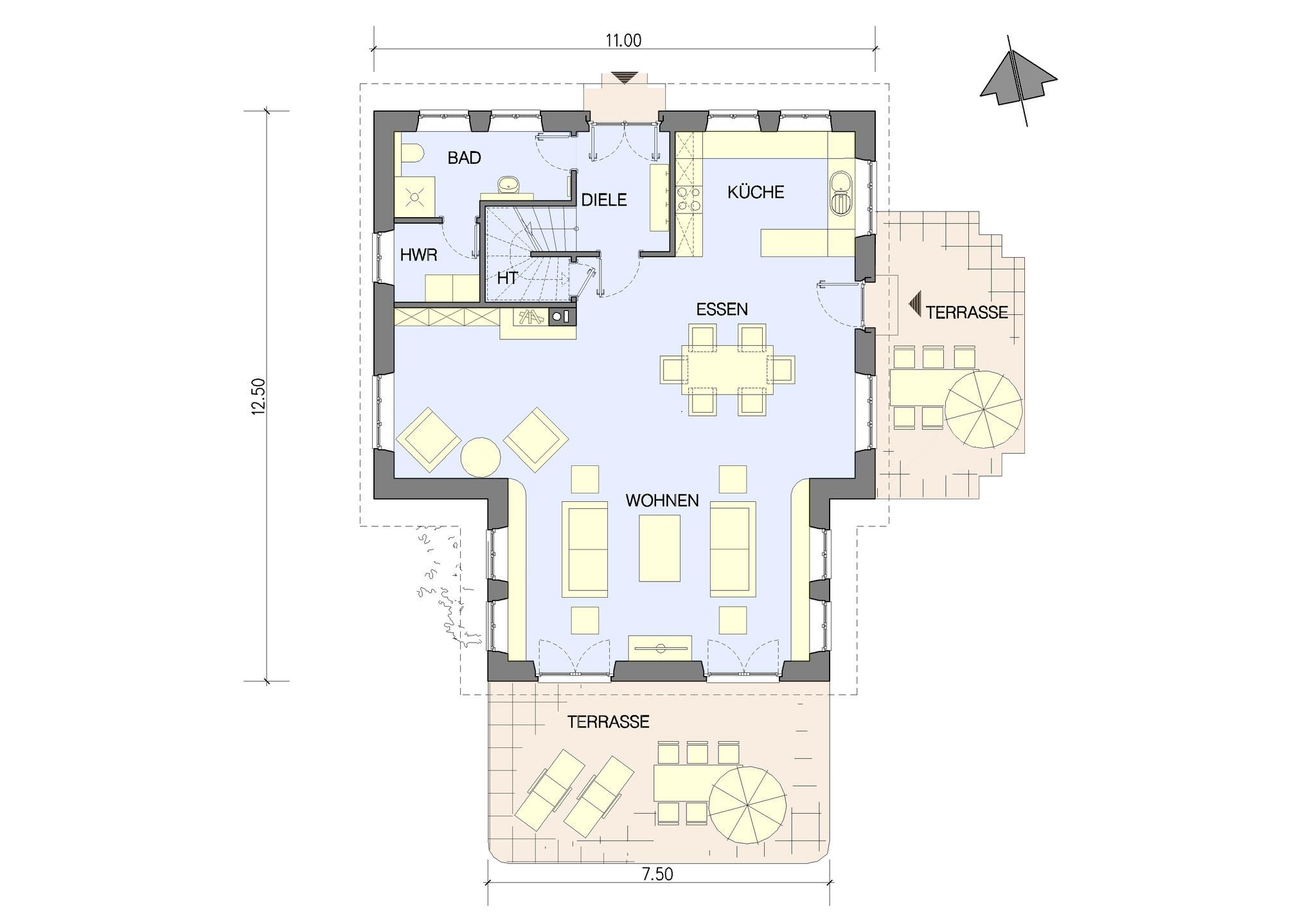 Beispiel Grundriss Erdgeschoss