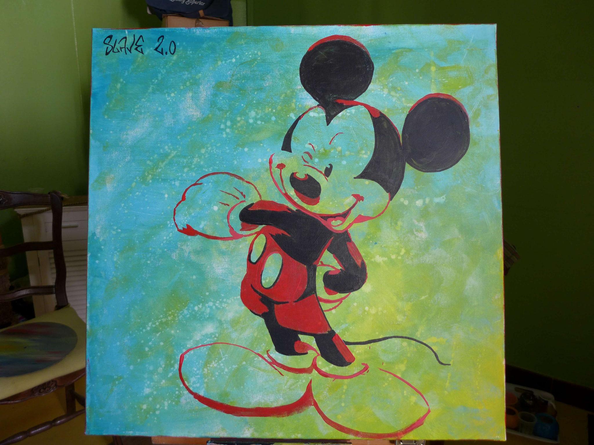 Mickey Mouse street art sur toile par Slave 2.0