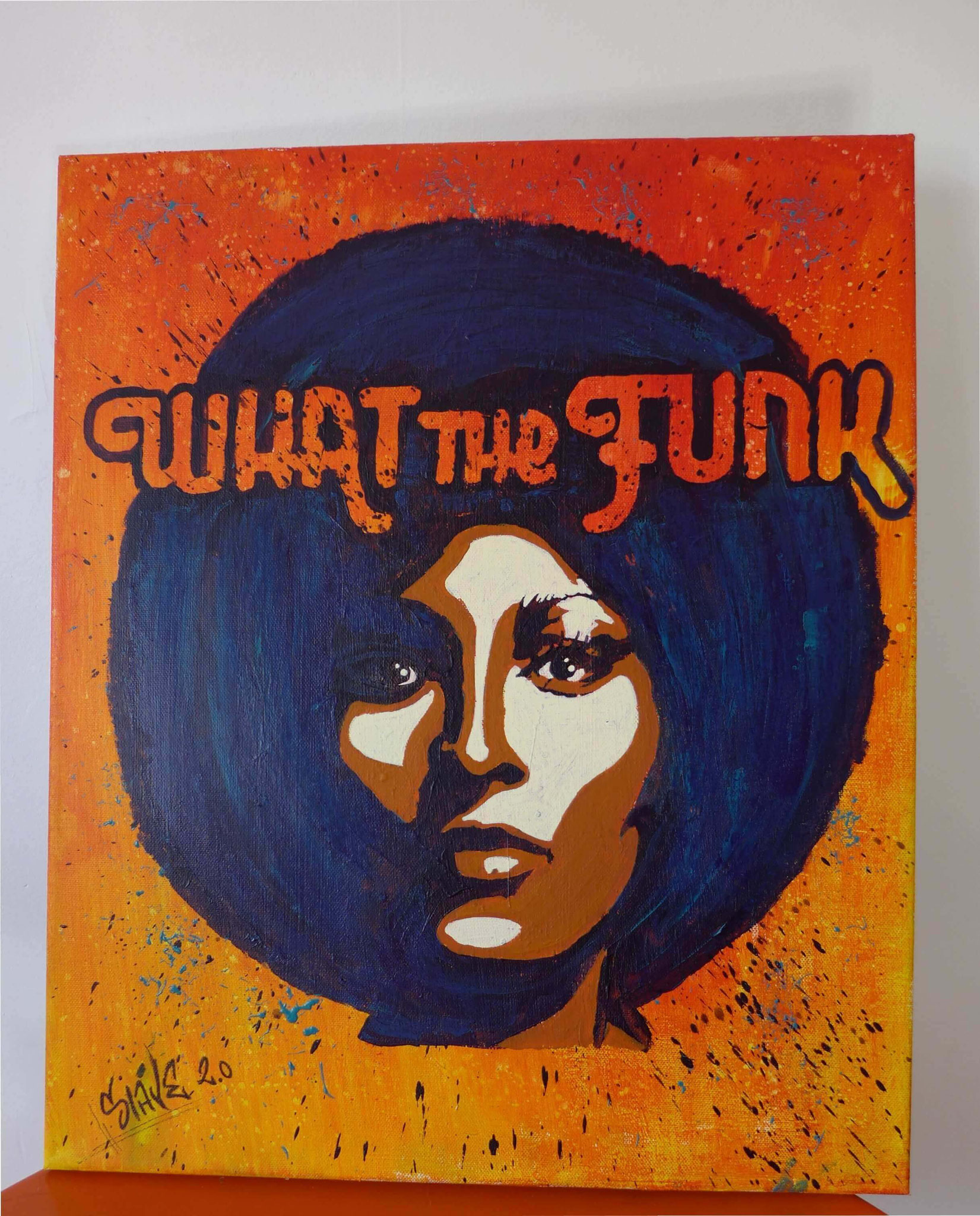 achat tableau what the funk décoration murale - slave 2.0