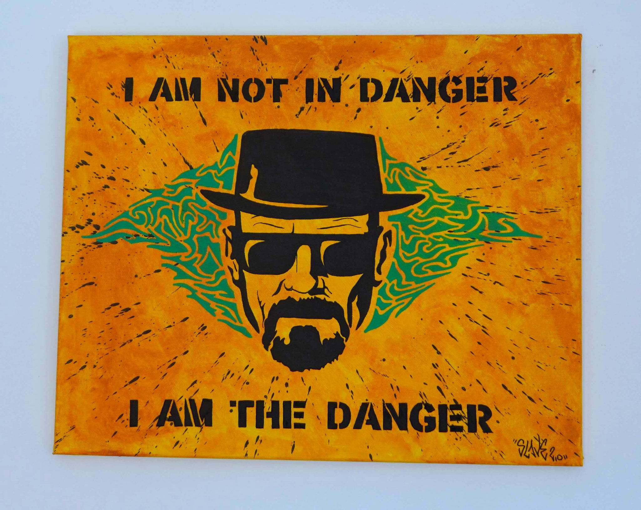 achat tableau breaking bad heinsenberg the danger