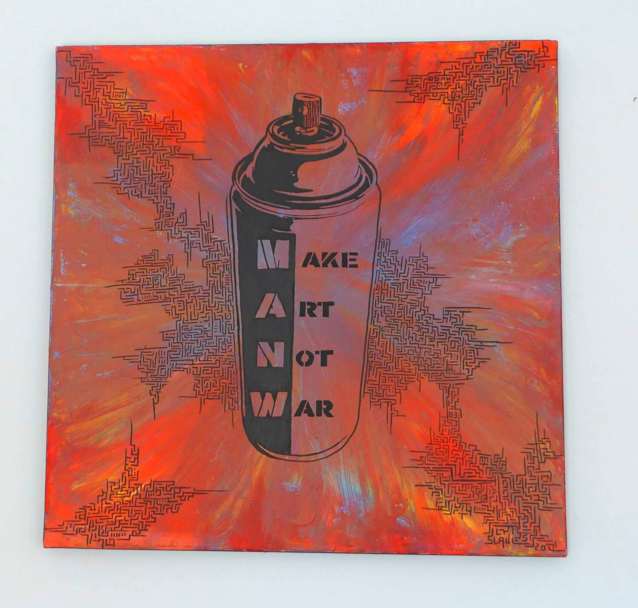 achat tableau street art - Make art not war - slave 2.0