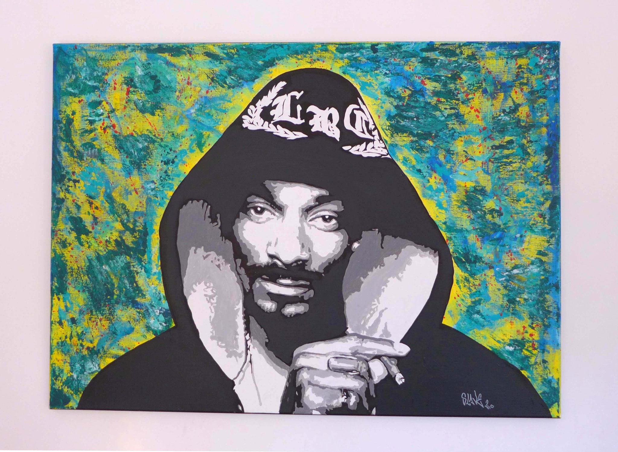 achat tableau snoop dogg street art - slave 2.0