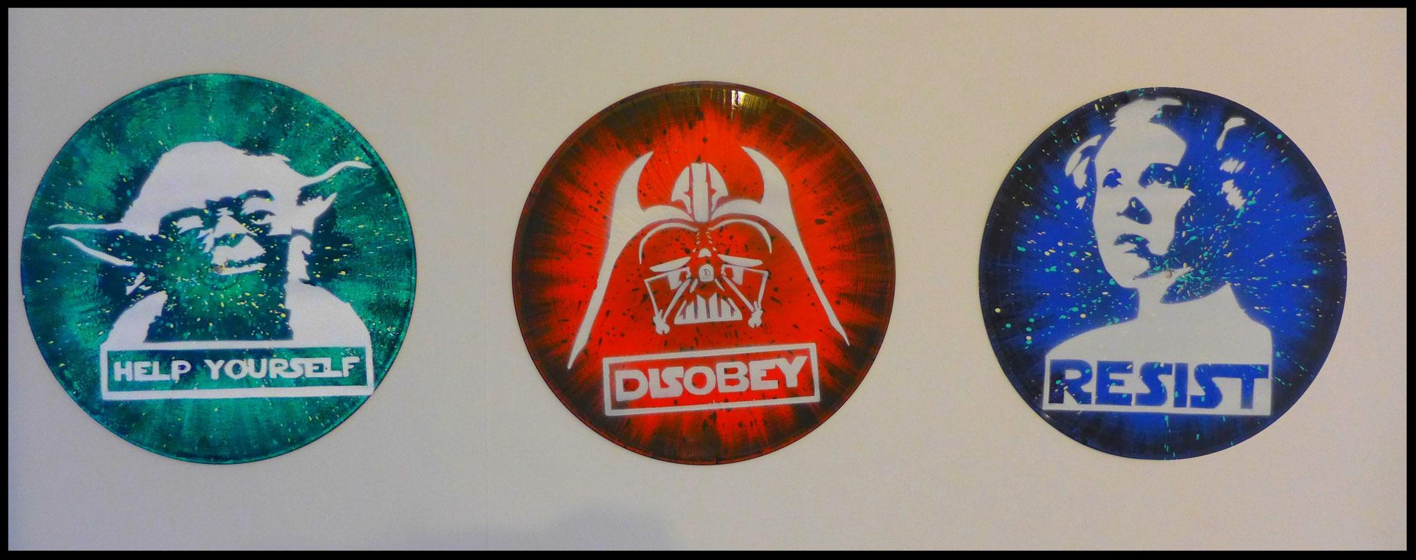 décoration tendance disque vinyle decoratif