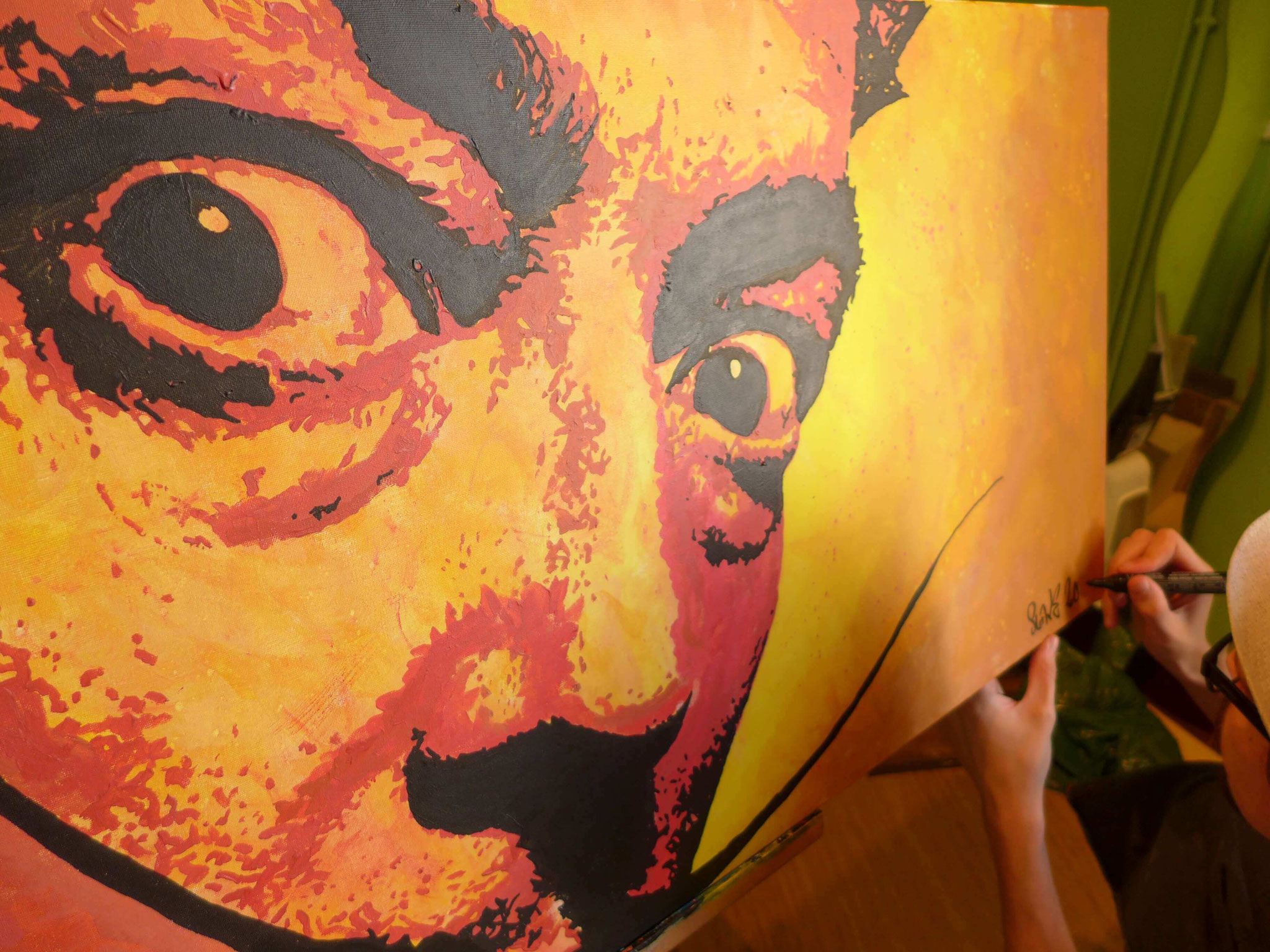 détail salvador dali peinture street art