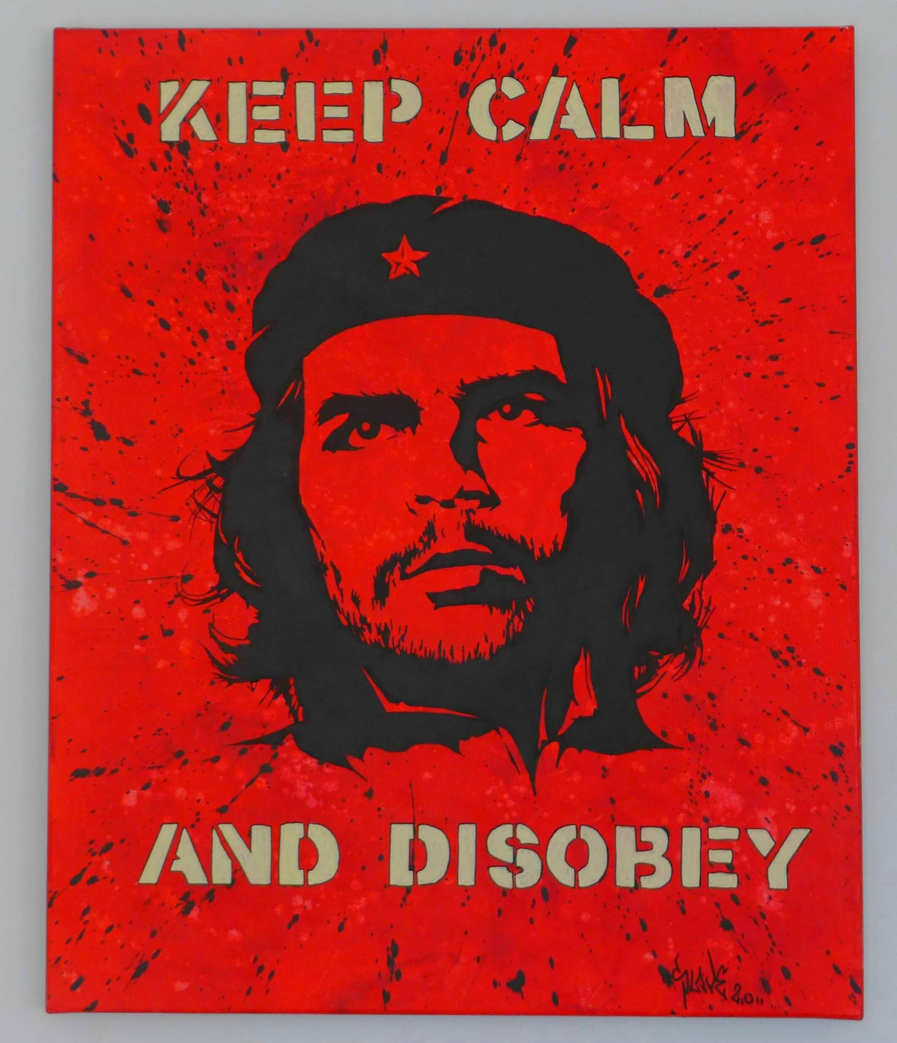 achat tableau che guevara - Keep calm and disobey - Slave 2.0