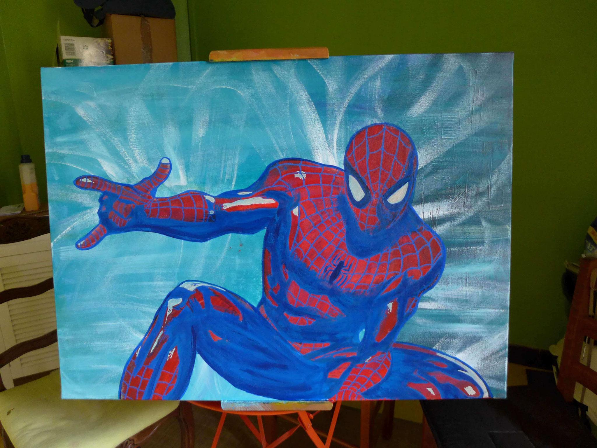 spiderman peinture par slave 2.0