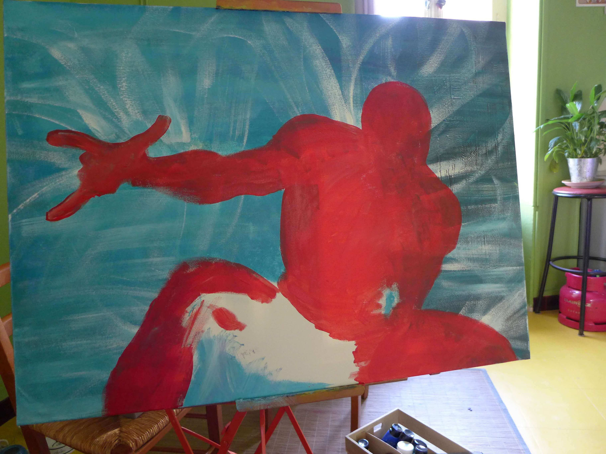spiderman peinture en cours 3