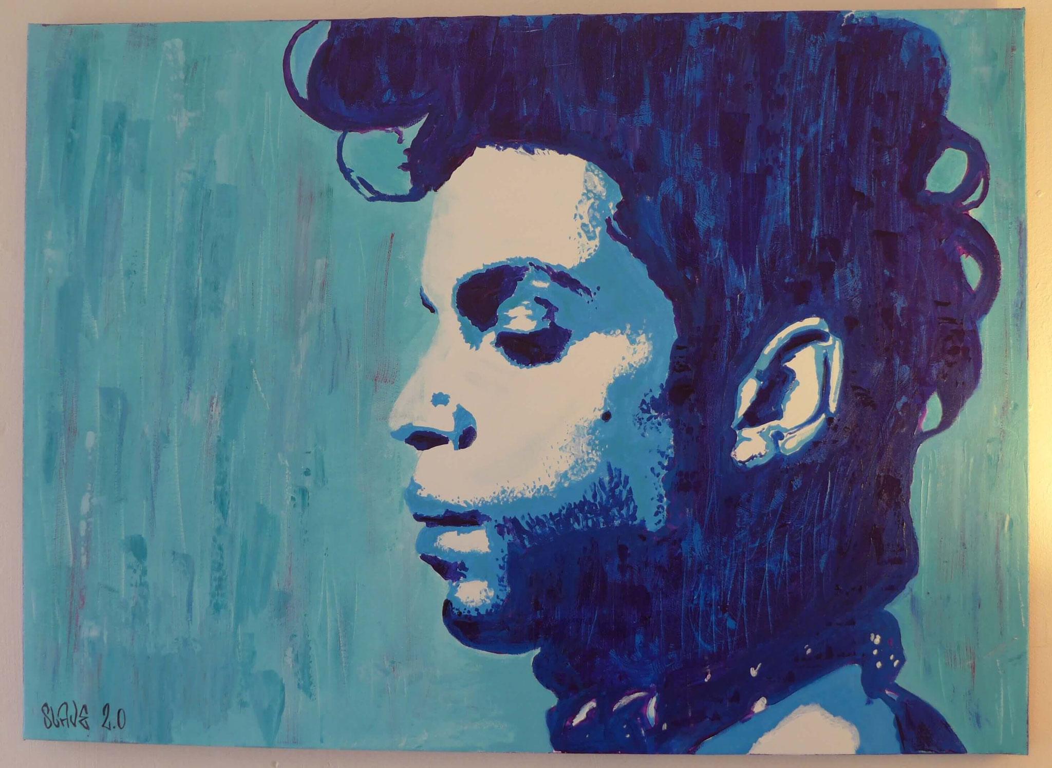 Prince Street art RIP sur toile par Slave 2.0