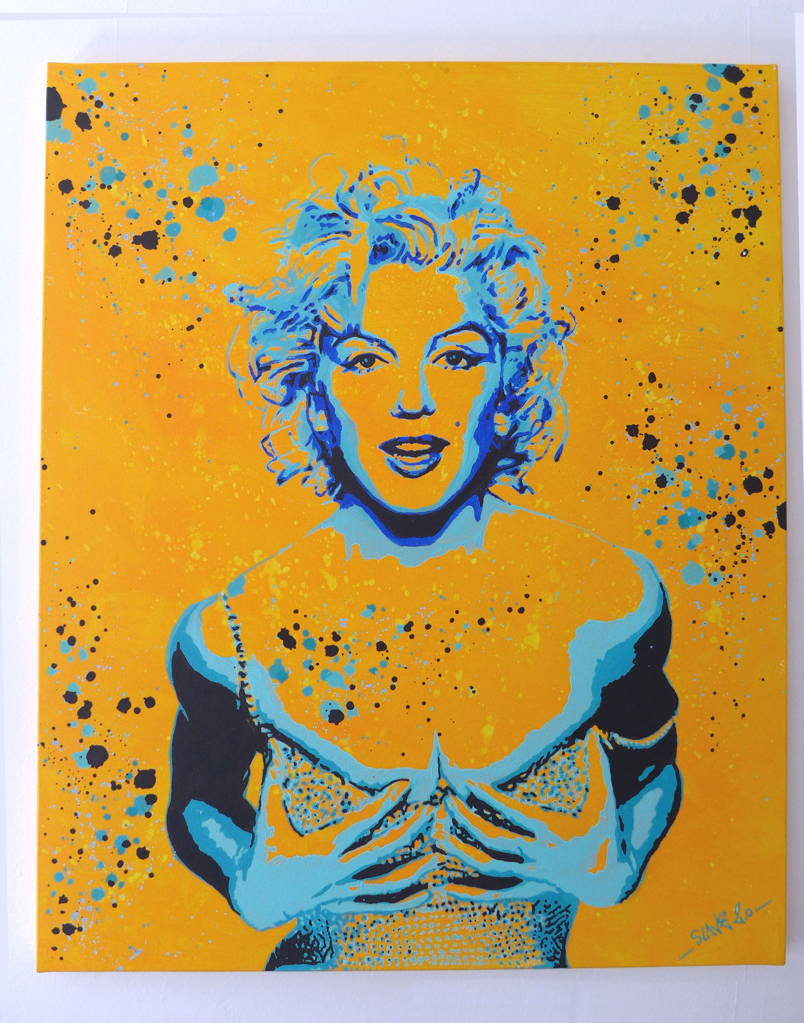 Tableau Street Art Marilyn Monroe splash - Slave 2.0