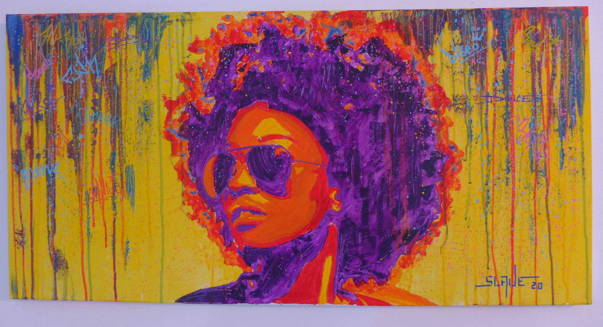 Funky Woman colorful street art par Slave 2.0