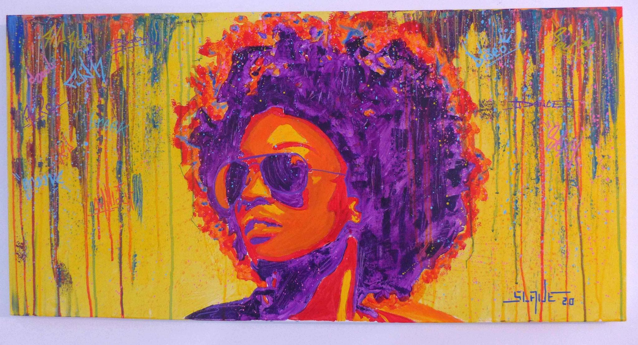 Achat tableau street art Funky Afro Woman - Slave 2.0