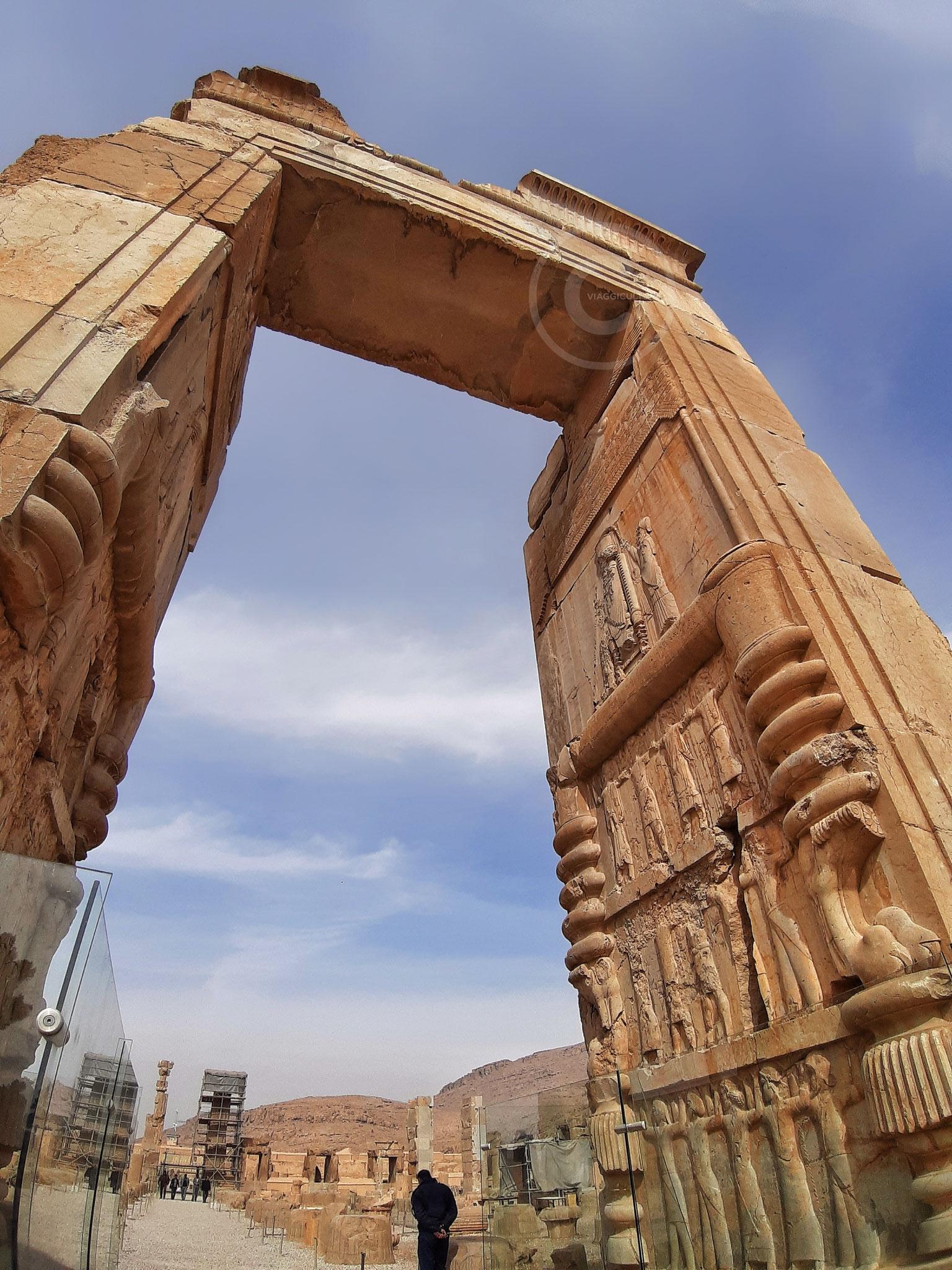 Porta nord del Palazzo delle Cento Colonne - Persepoli (Iran)