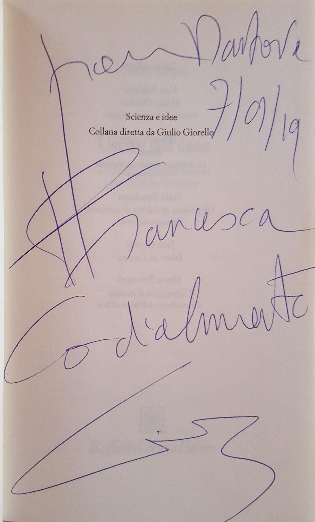 Autografo dell'autore