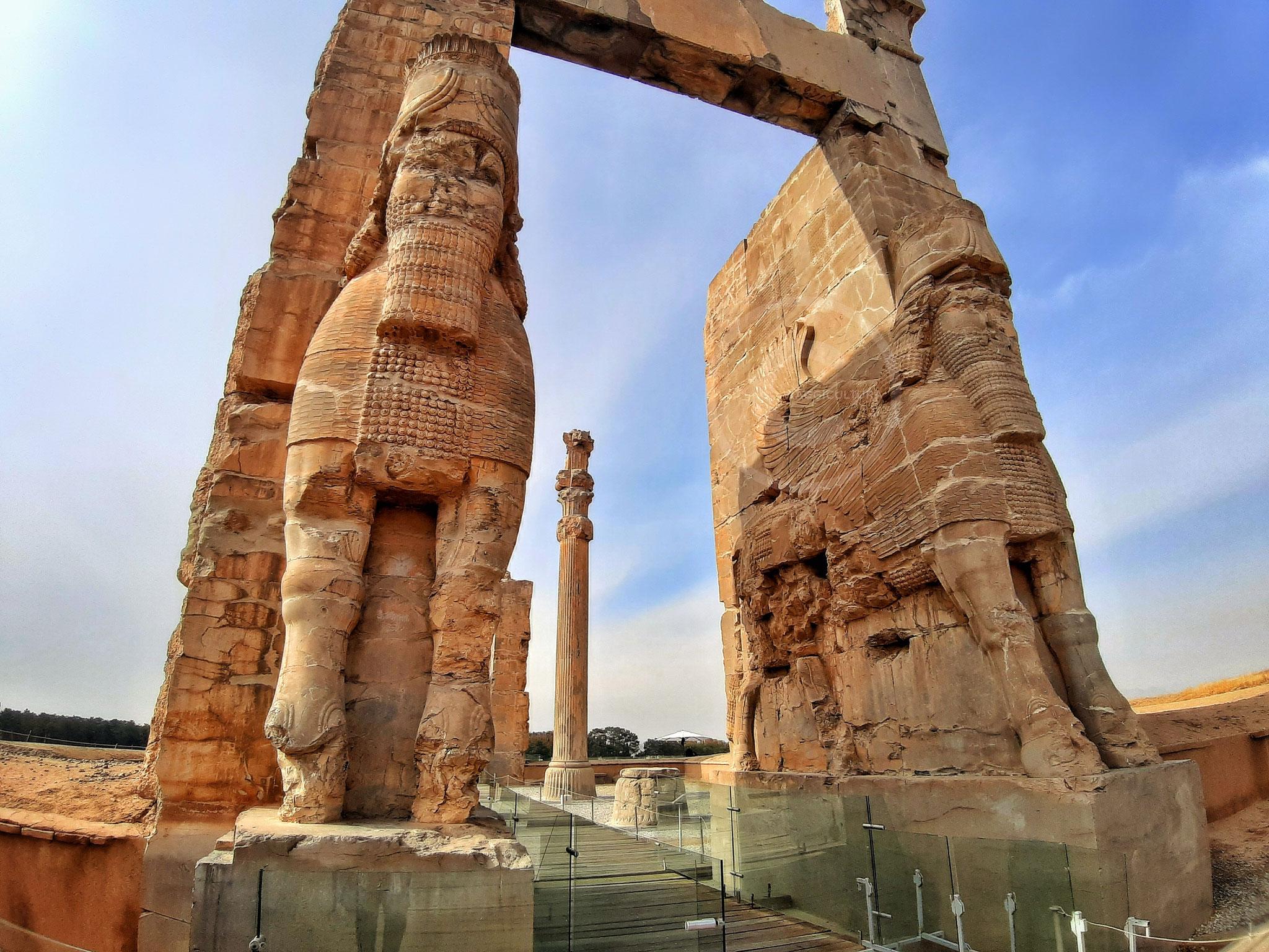 Porta di Tutte le Nazioni - facciata est, Persepoli (Iran)