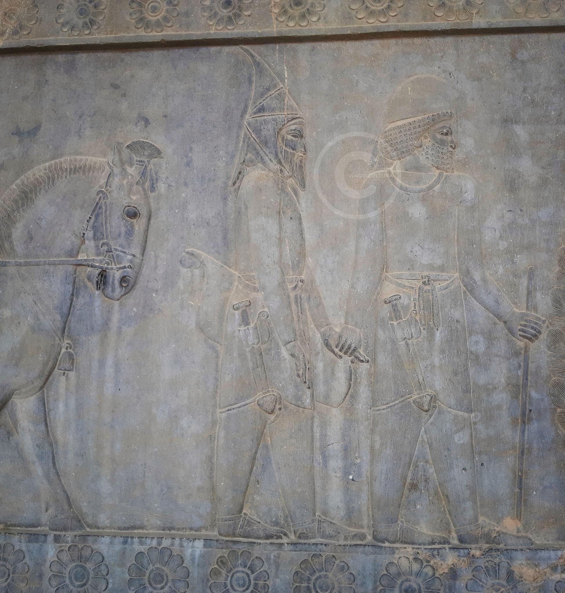 Vassalli Sciti, dei nomadi della regione dell'attuale Uzbekistan, Palazzo Apadana - Persepoli (Iran)