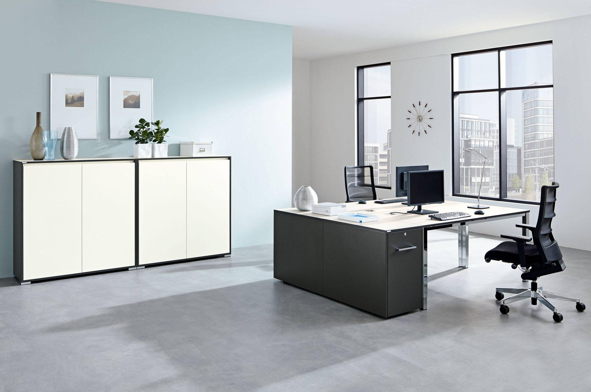 schranksysteme und aktenschrank b rom bel in th ringen hildebrandt office line. Black Bedroom Furniture Sets. Home Design Ideas