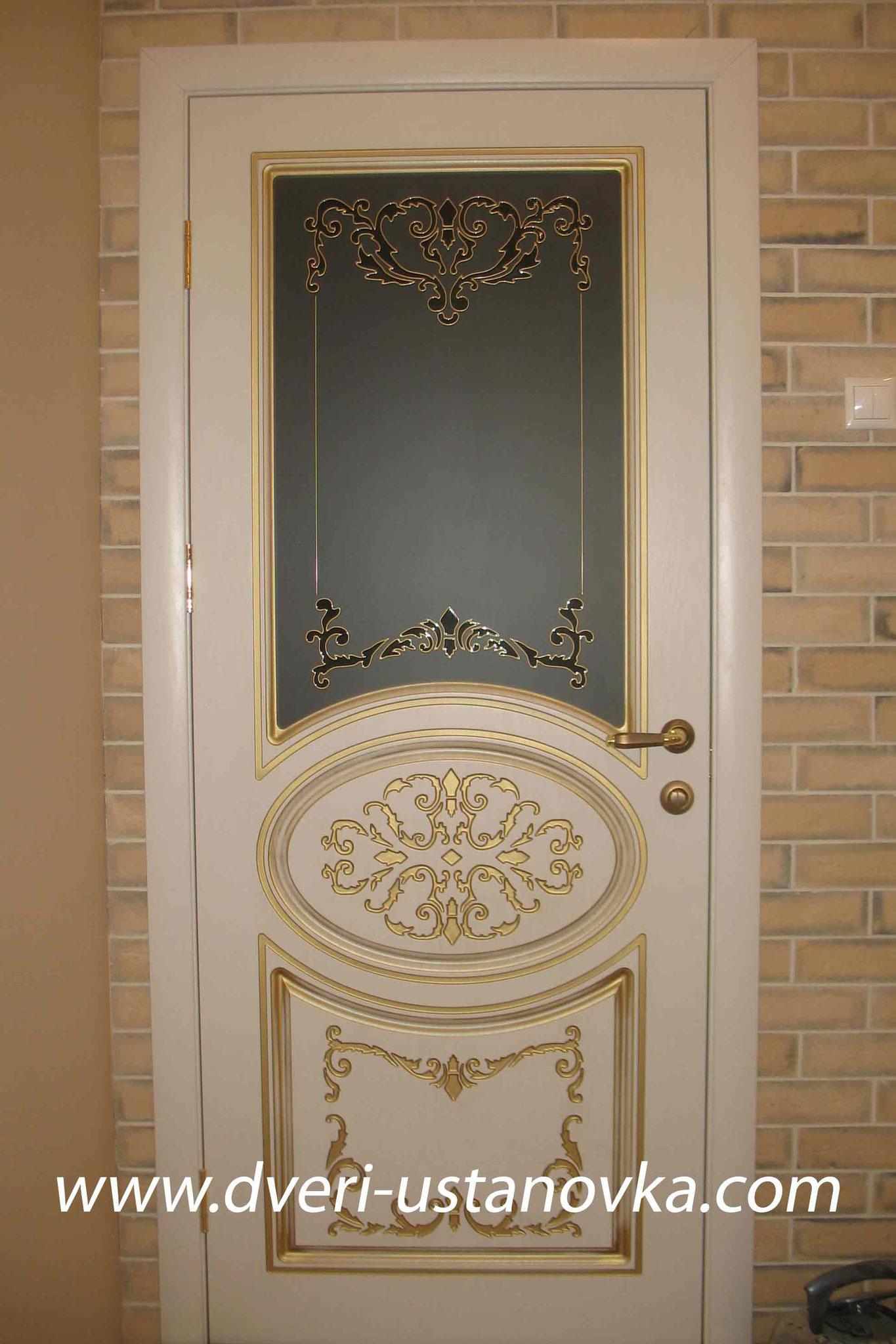 Фото 2.3 Одностворчатая межкомнатная дверь со стеклом.