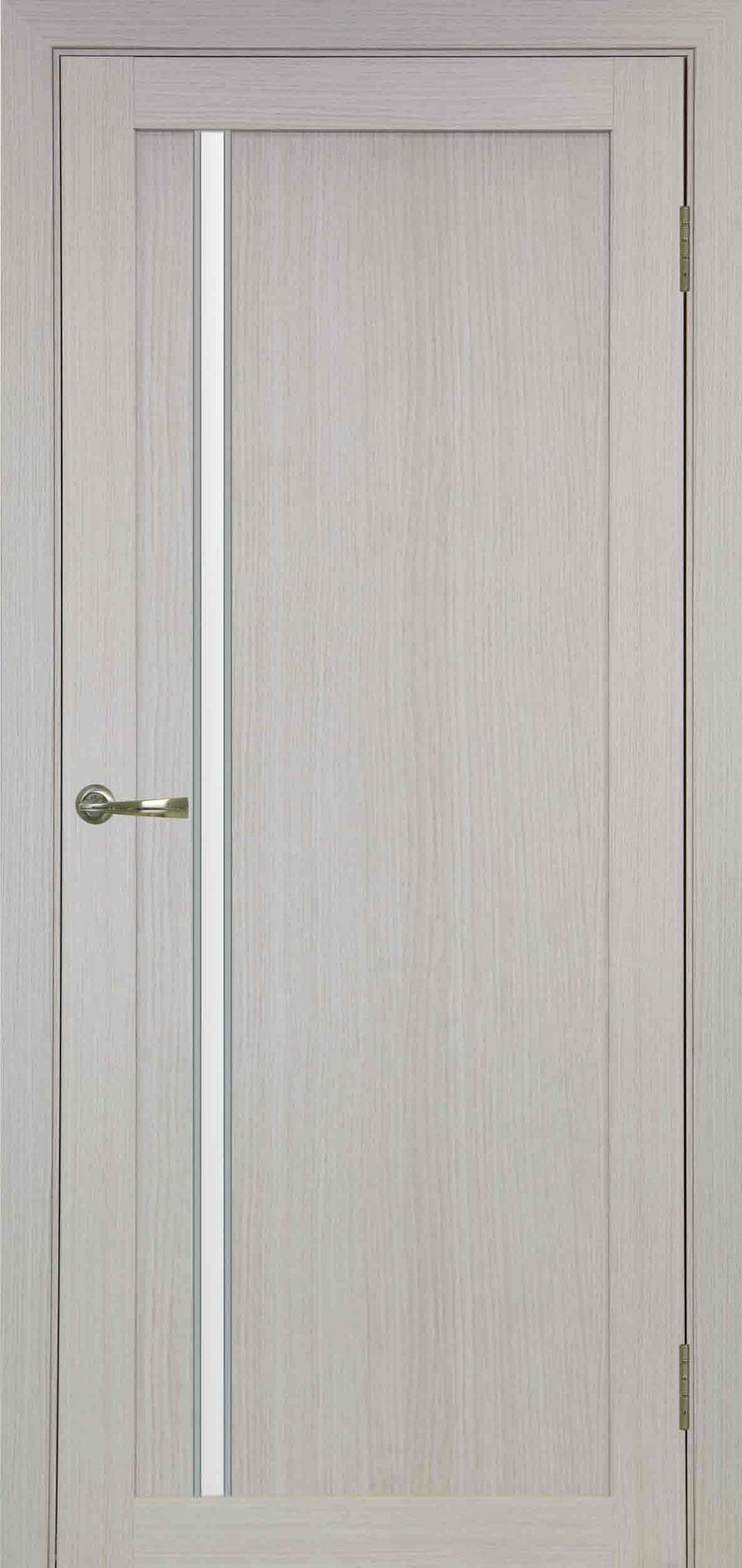 527 белёный дуб, АПС молдинг матовый хром, стекло сатин белое