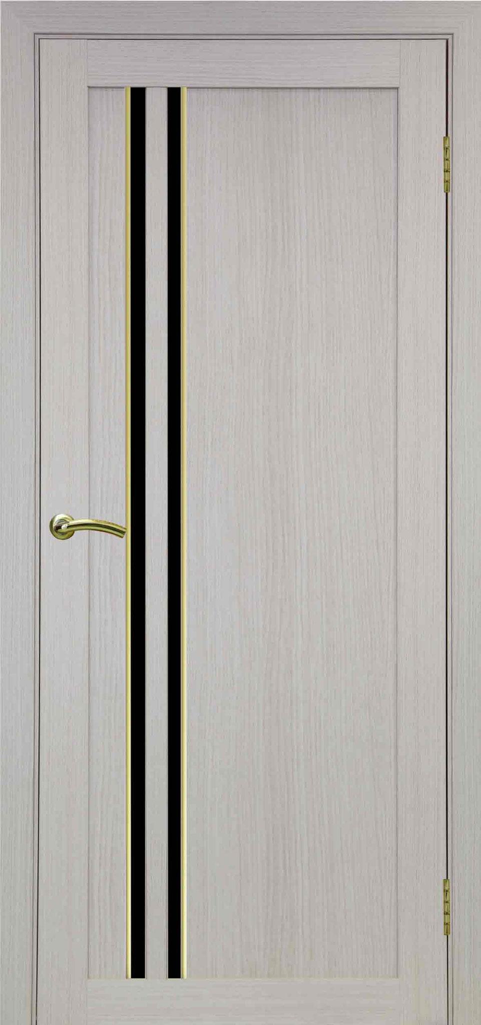 525 белёный дуб, АПС молдинг матовое золото, стекло LACOBEL чёрное