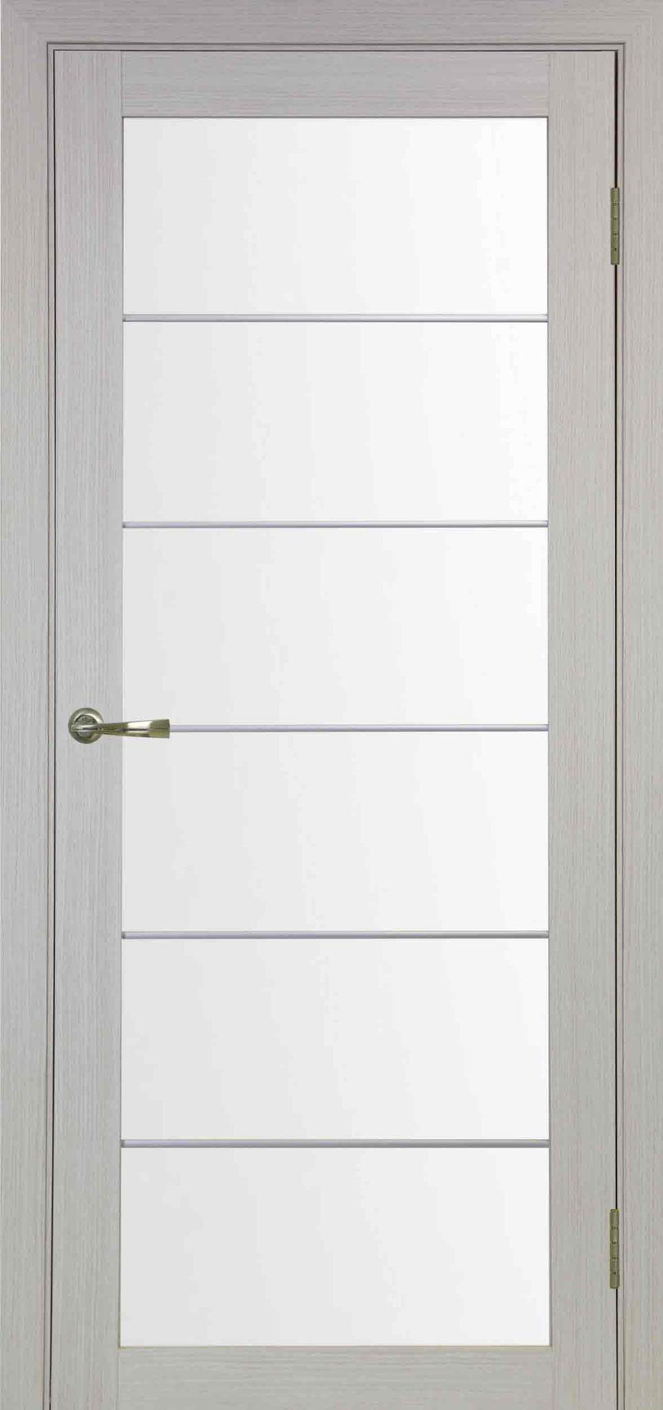 501.2 АСС белёный дуб, стекло сатин; молдинг, цвет: матовый хром