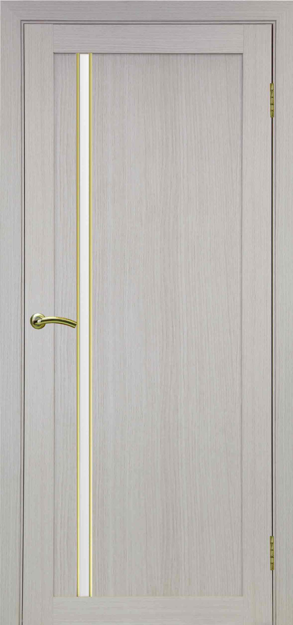 527, белёный дуб, АПС молдинг матовое золото, стекло сатин белое