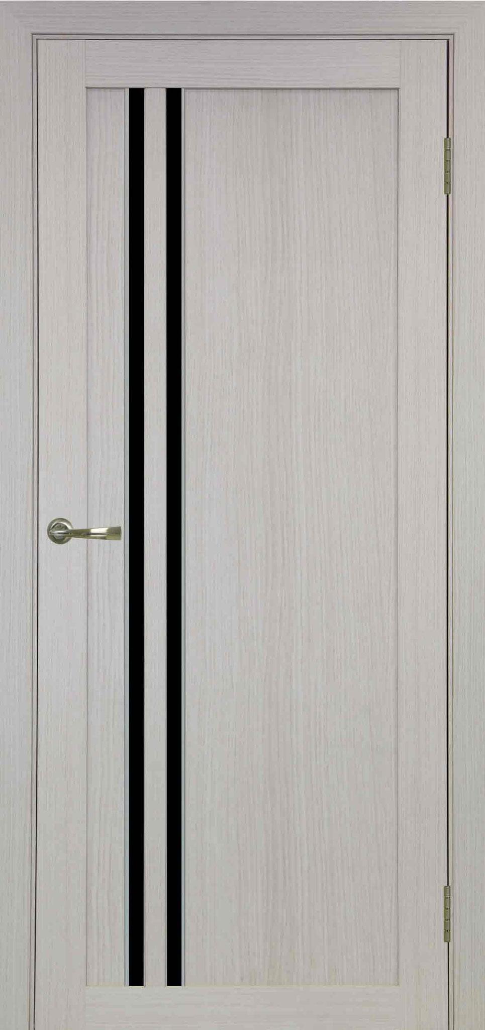 525 белёный дуб, АПС молдинг матовый хром, стекло LACOBEL чёрное